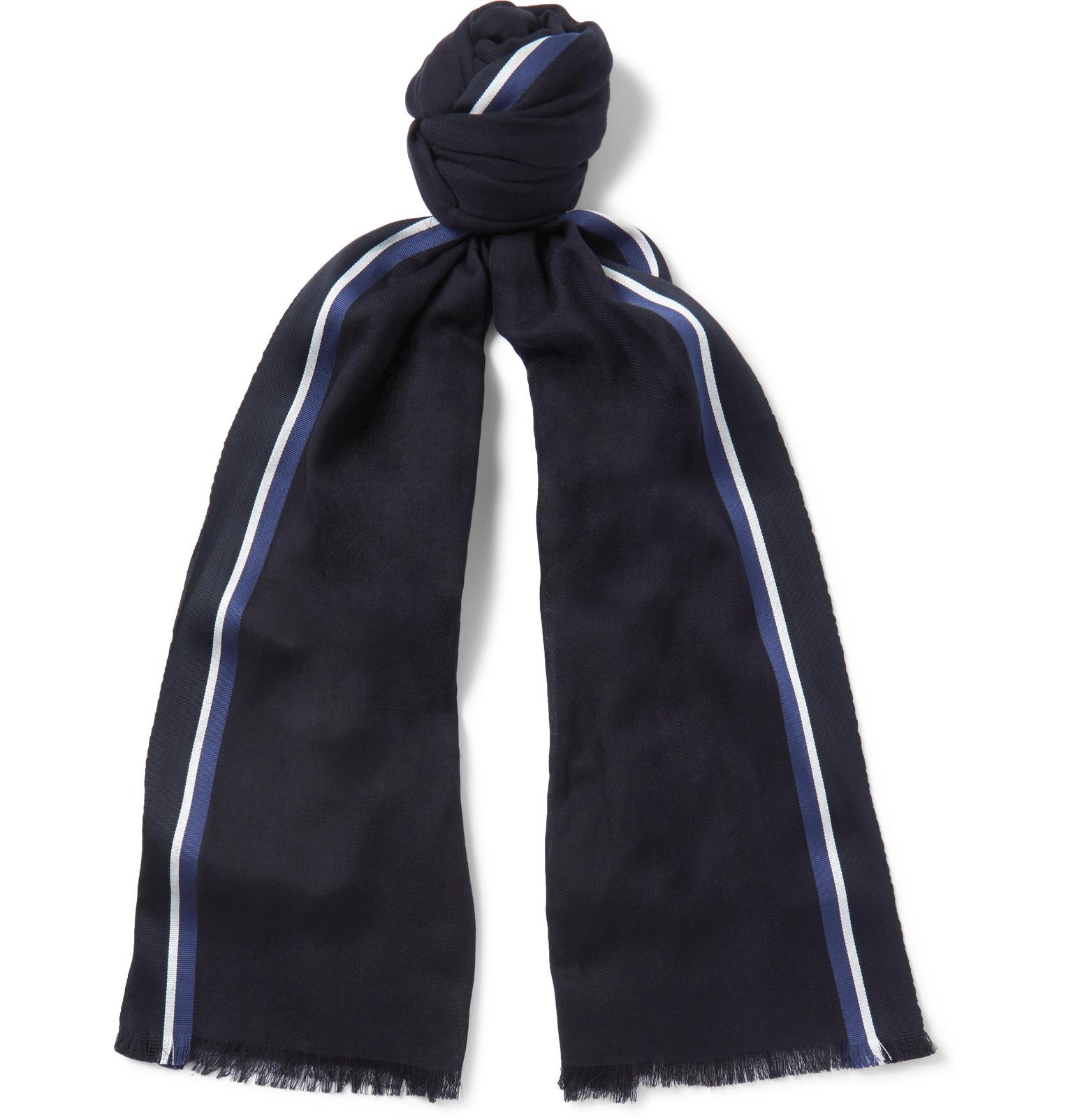 Checked Cotton Scarf Loro Piana qRlDK