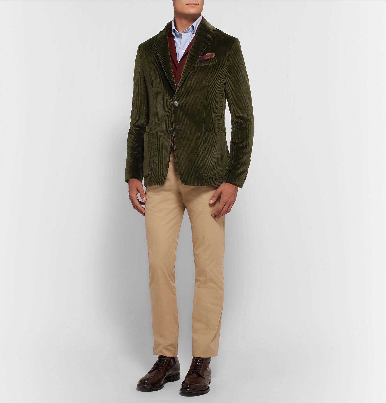 the latest b75bd 0982f drakes-dark-green-Dark-green-Slim-fit-Cotton-corduroy-Blazer.jpeg