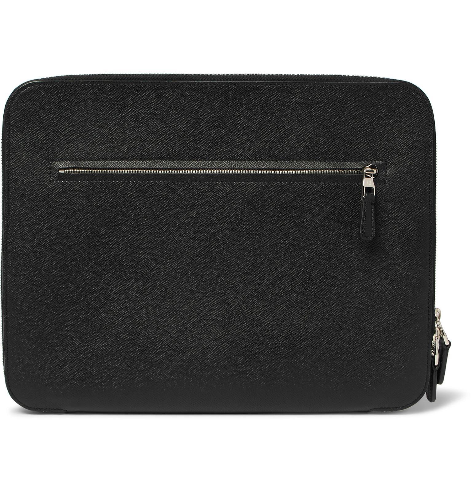 3c7dfce4 Men's Black Cadogan Full-grain Leather Zip-around Pouch