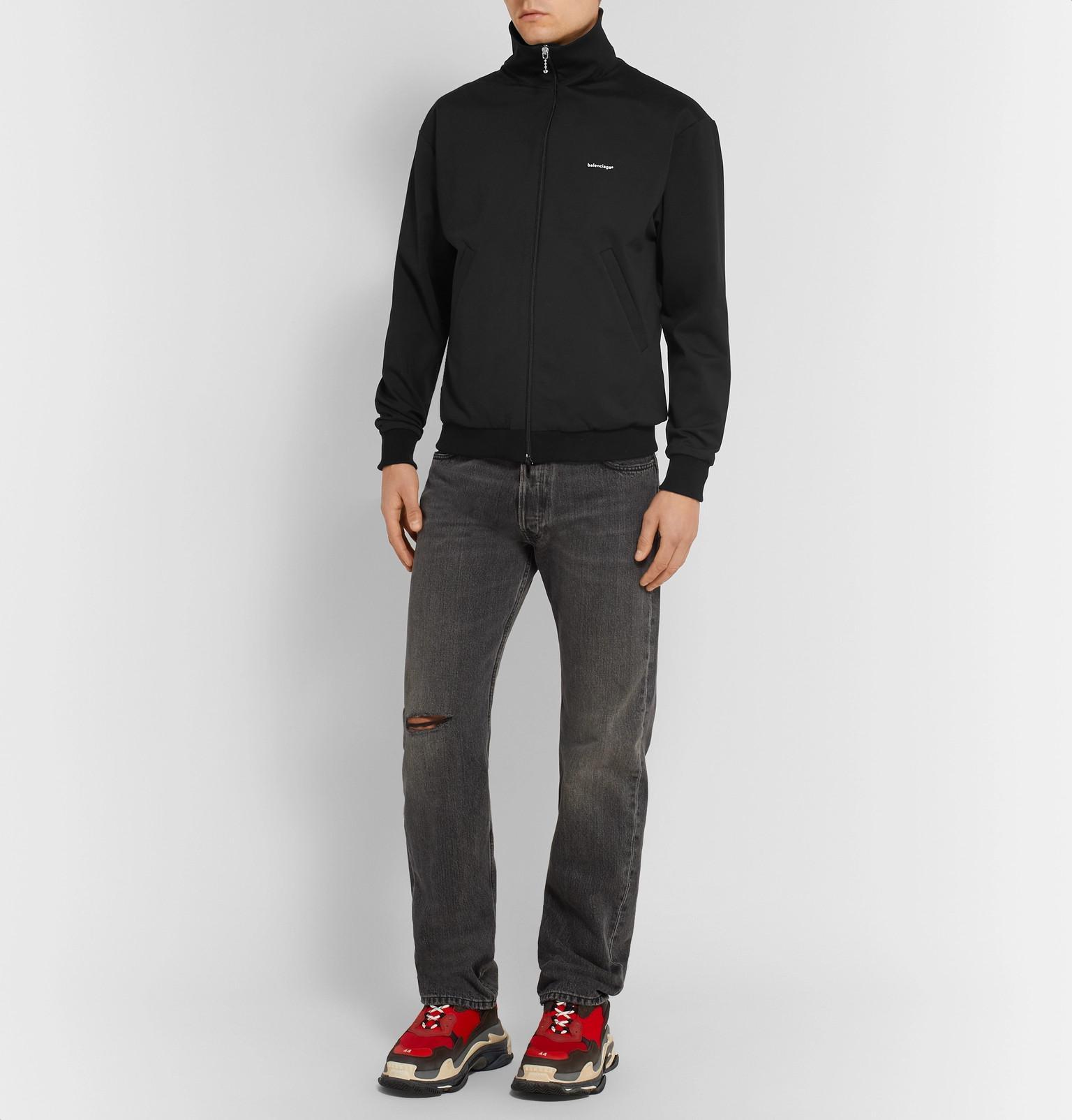 Black Track For In Balenciaga Jacket Lyst Slim Men Jersey Fit wAY4wxBqT