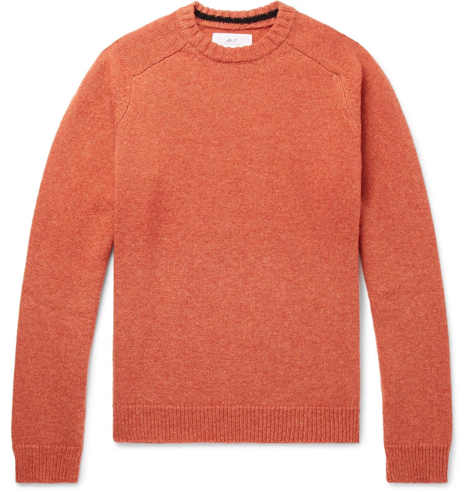 Mr P. Mélange Shetland Wool Sweater - Green kGa1x