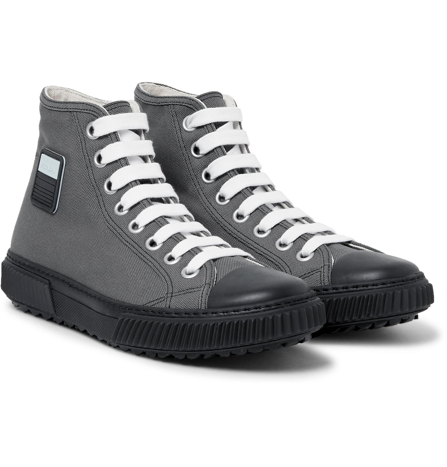 Prada Stratos Canvas High-top Sneakers