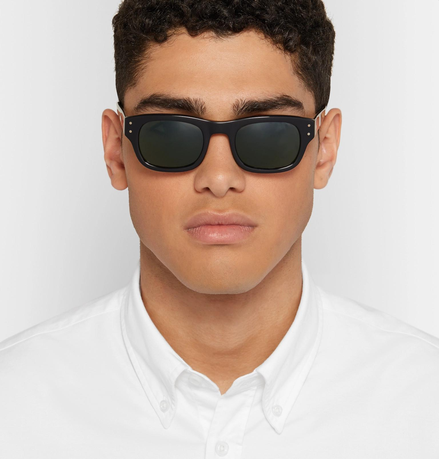 ab8be1f4b045 Moscot Nebb Square-frame Acetate Sunglasses in Black for Men - Lyst