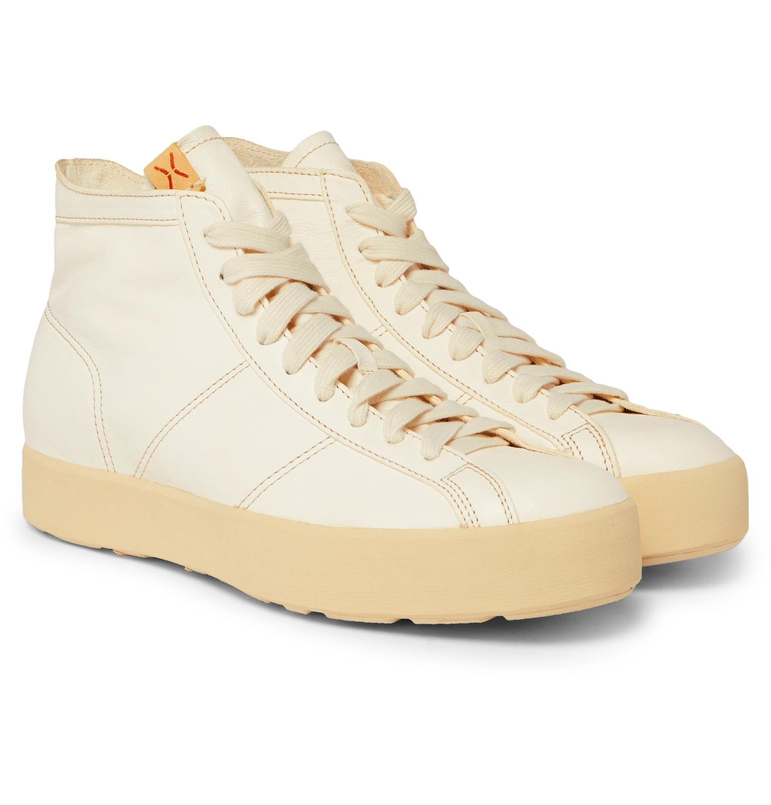 cheap 100% authentic visvim Foley Folk Leather High-Top Sneakers discount exclusive m8idU5