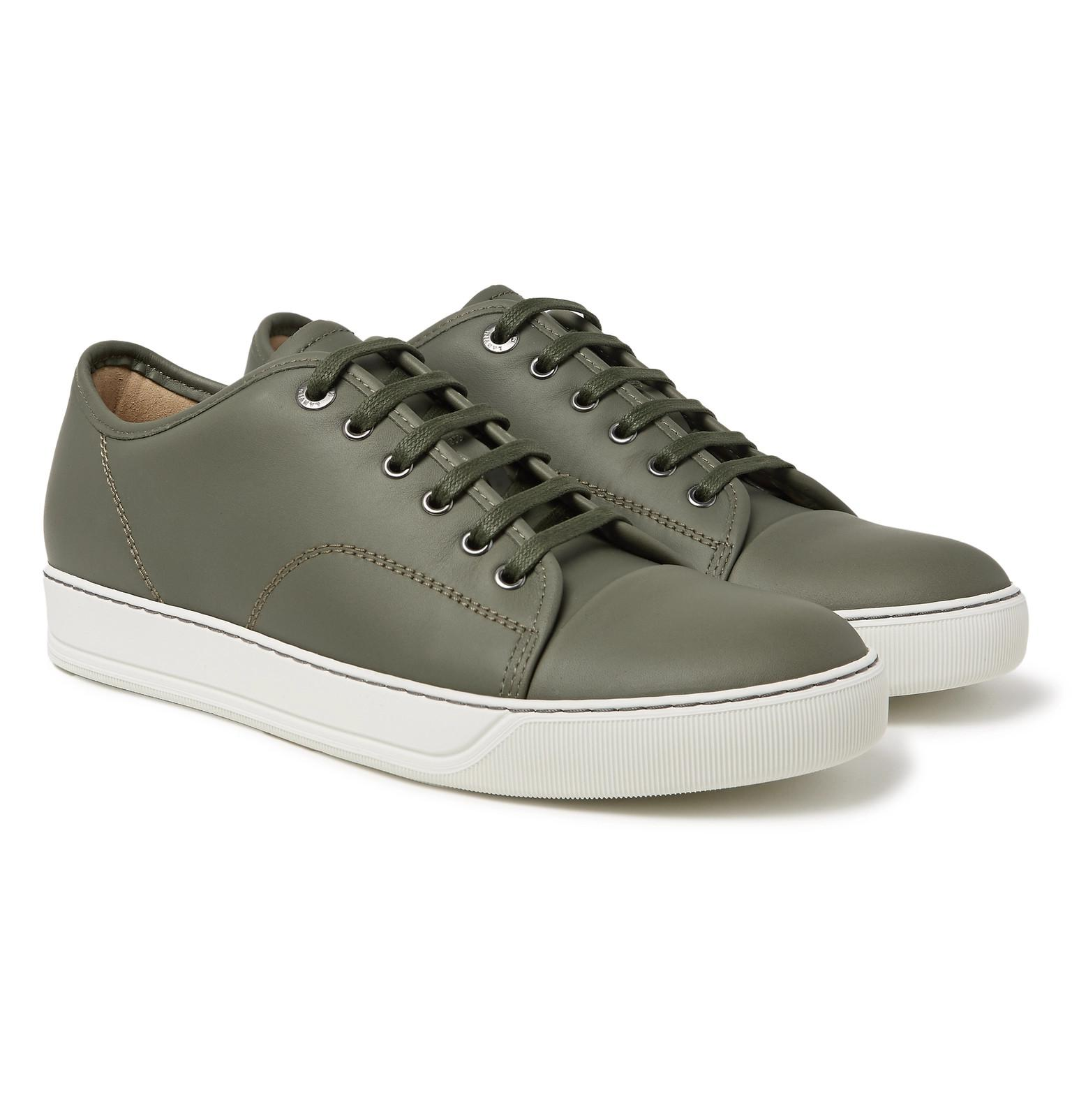 discount enjoy Lanvin Cap-Toe Matte-Leather Sneakers cheap sale ebay from china online jAycqN