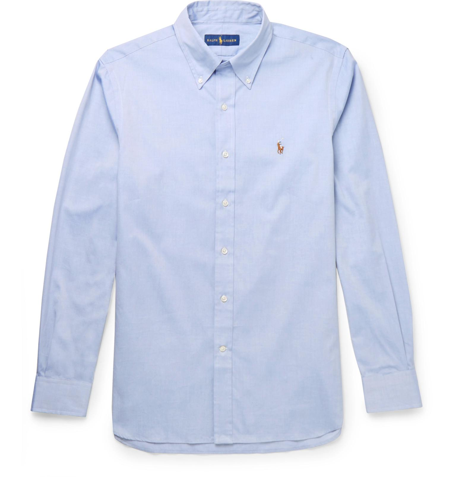 5f3df0c0b1de09 Lyst - Polo Ralph Lauren Button-down Collar Cotton Oxford Shirt in ...
