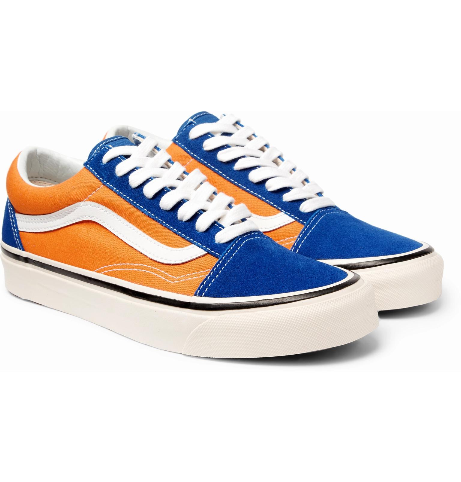 Lyst - Vans Anaheim Old Skool 36 Leather-trimmed Canvas And Suede ... 6158bc714