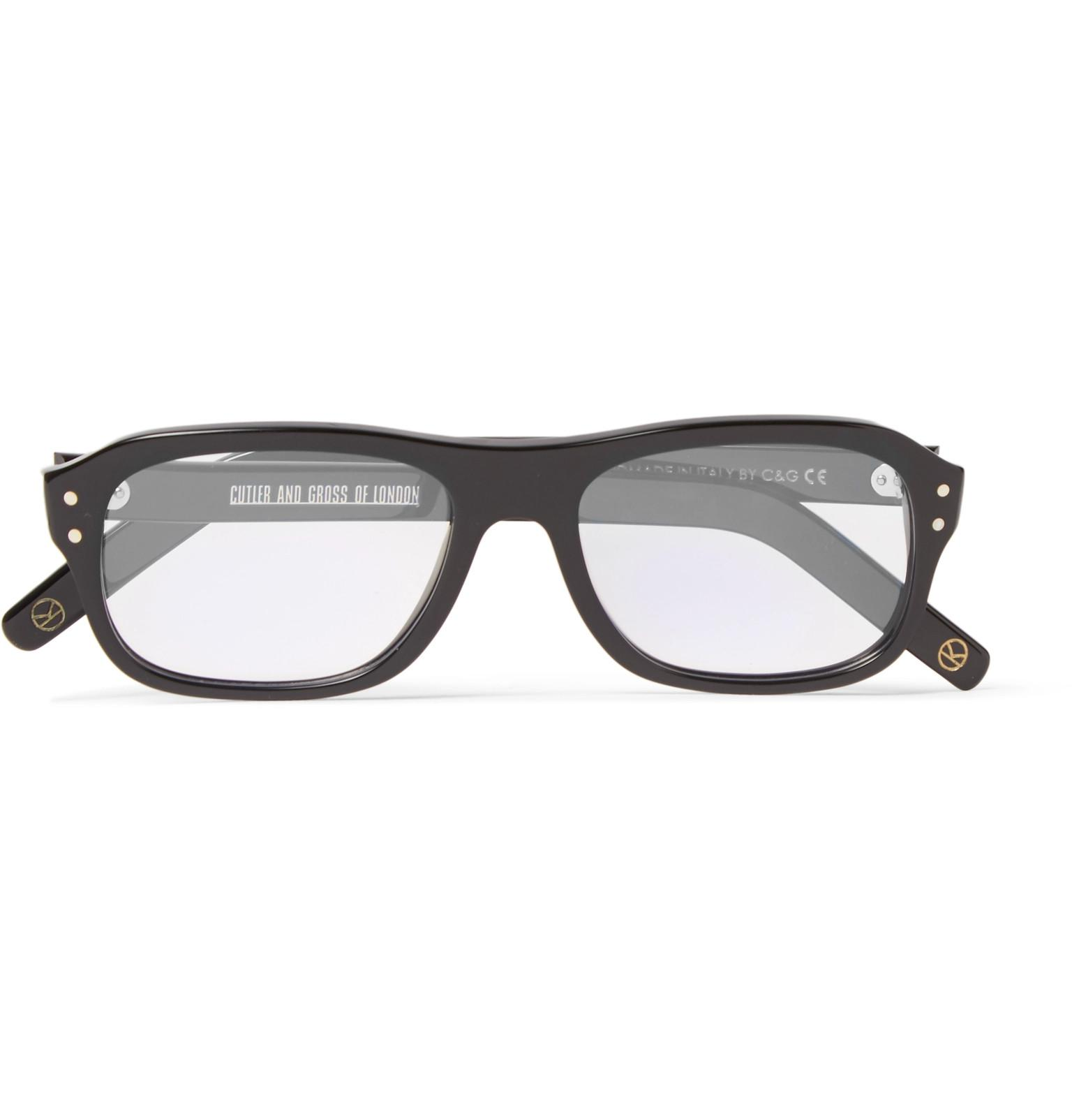 73131fa36e Lyst - Kingsman + Cutler And Gross Eggsy s Square-frame Acetate ...