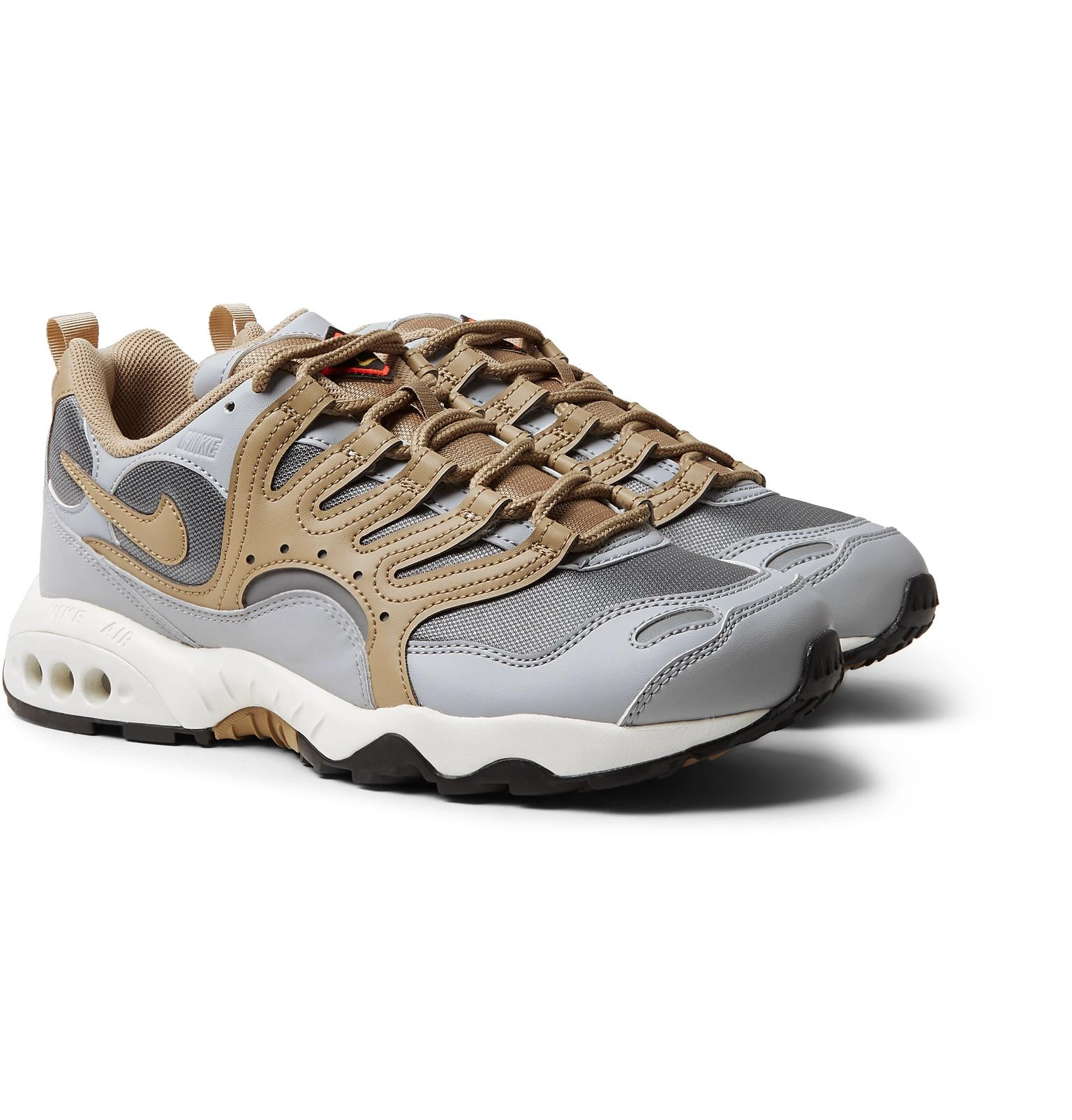 e5d4a7a3c72335 Lyst - Nike Air Terra Humara  18 Faux Leather And Mesh Sneakers in ...