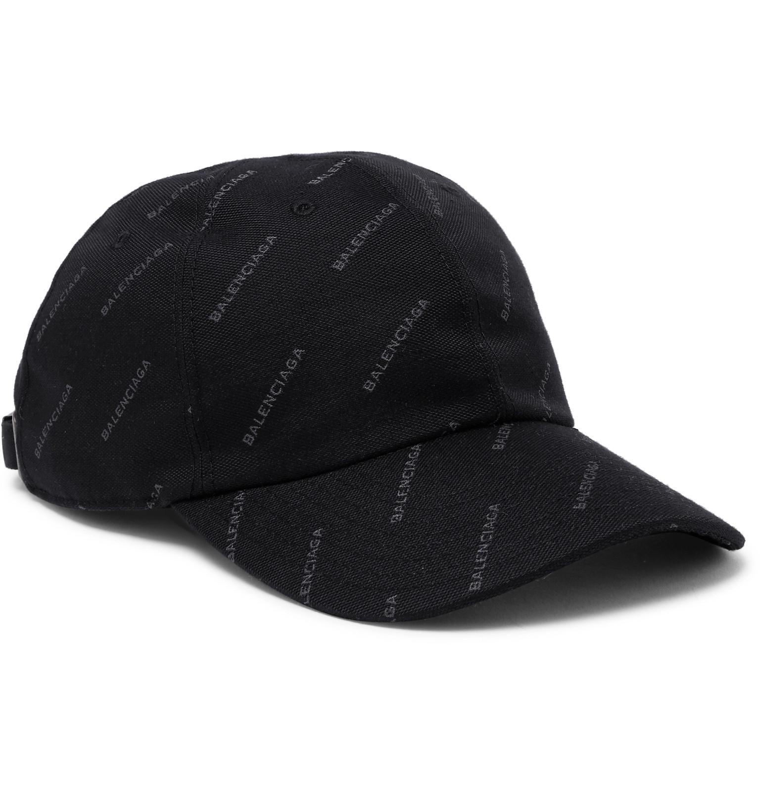 1079ee13 Balenciaga Printed Twill Baseball Cap in Black for Men - Lyst