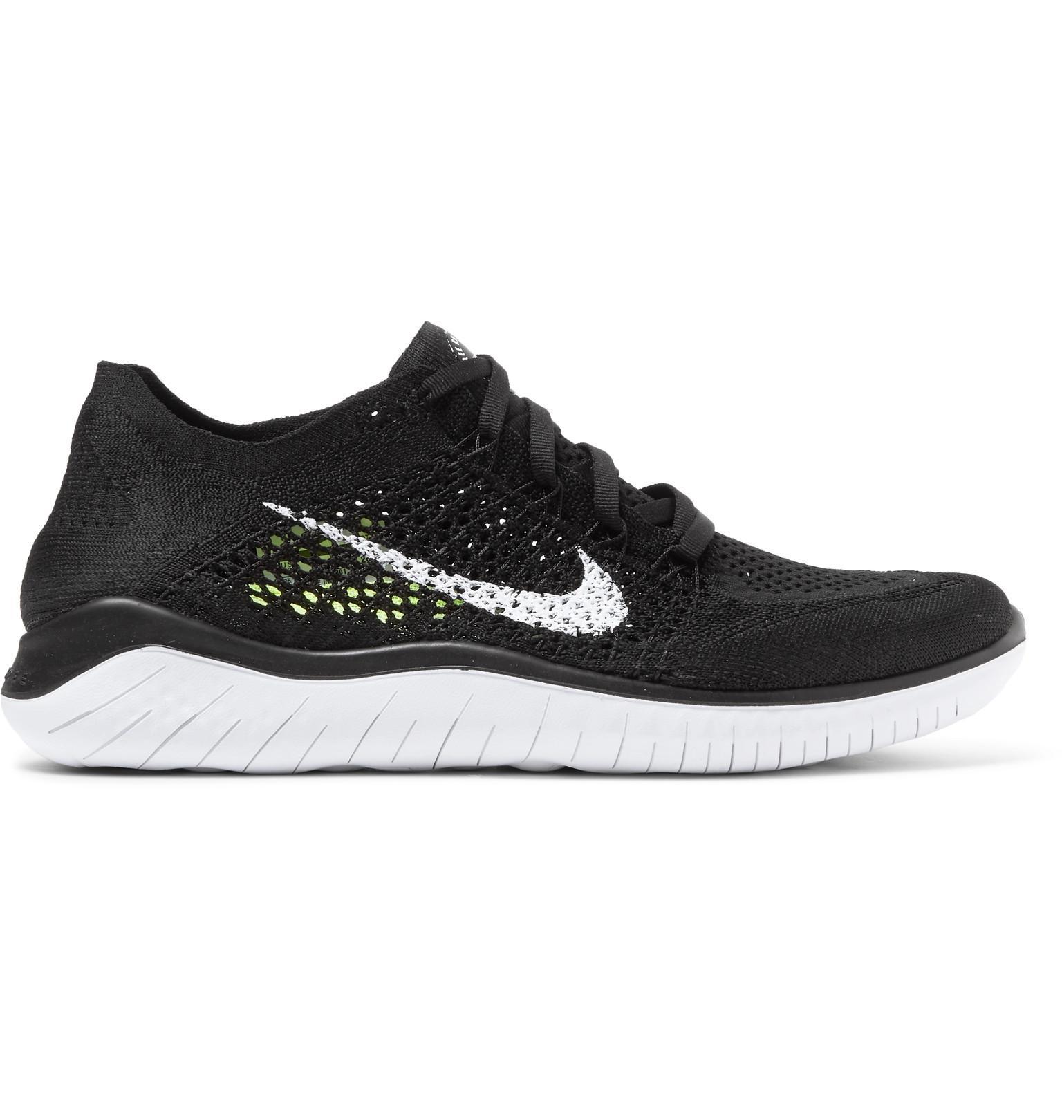 newest ea465 a94dd Nike. Men s Black Free Rn Mesh Sneakers