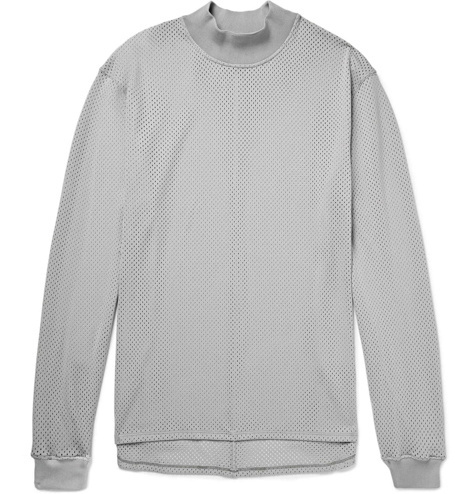 Lyst Fear Of God Oversized Mesh T Shirt In Gray For Men