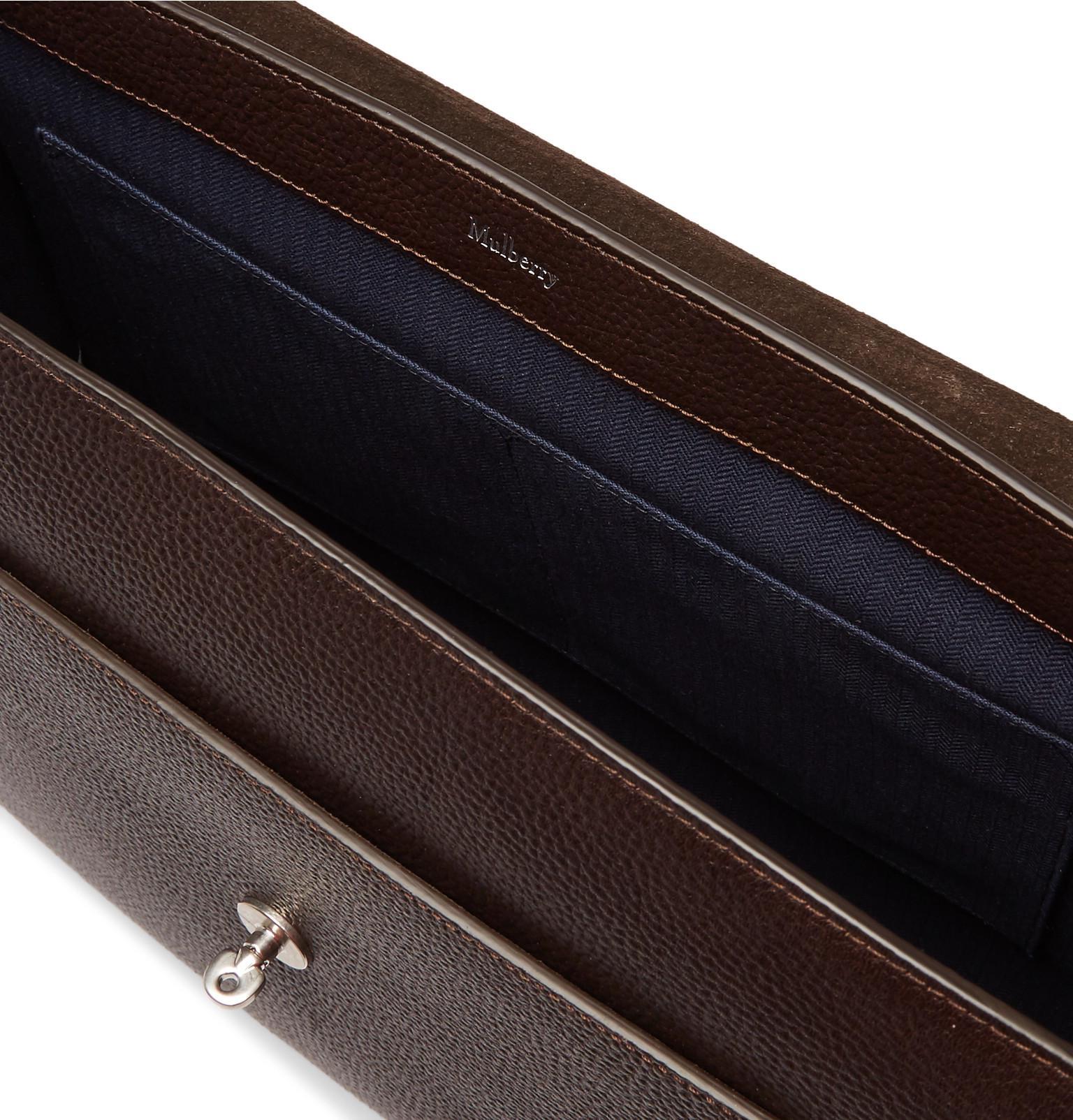 Mulberry - Brown East West Antony Padlock Pebble-grain Leather Messenger Bag  for Men -. View fullscreen a9474cbf252c4