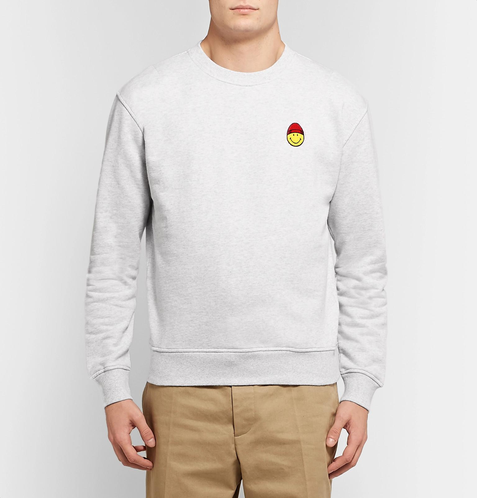 The Appliquéd Men Fullscreen Smiley Loopback Sweatshirt Mélange Ami BvqBwRFx