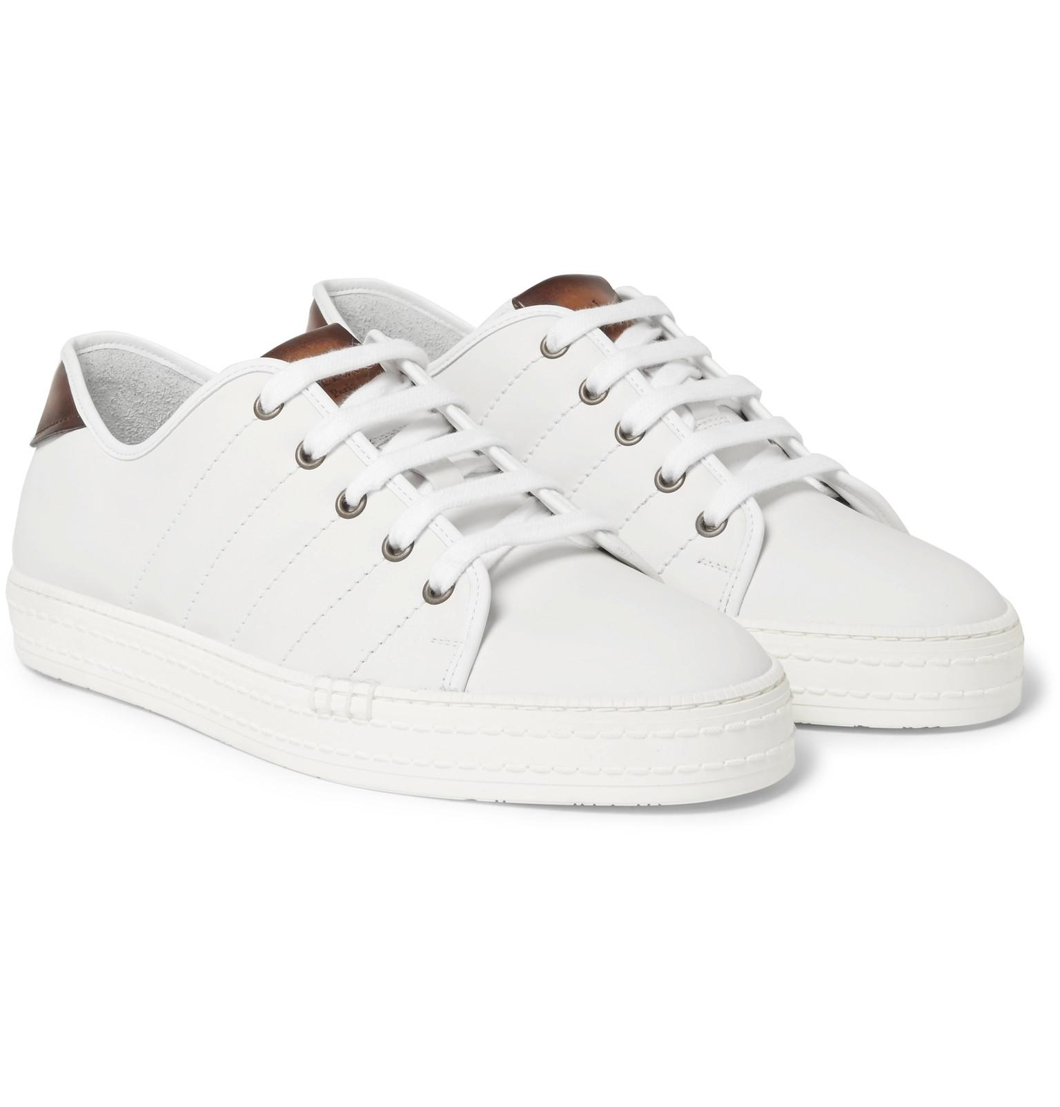 Berluti Playfield Leather Sneakers in
