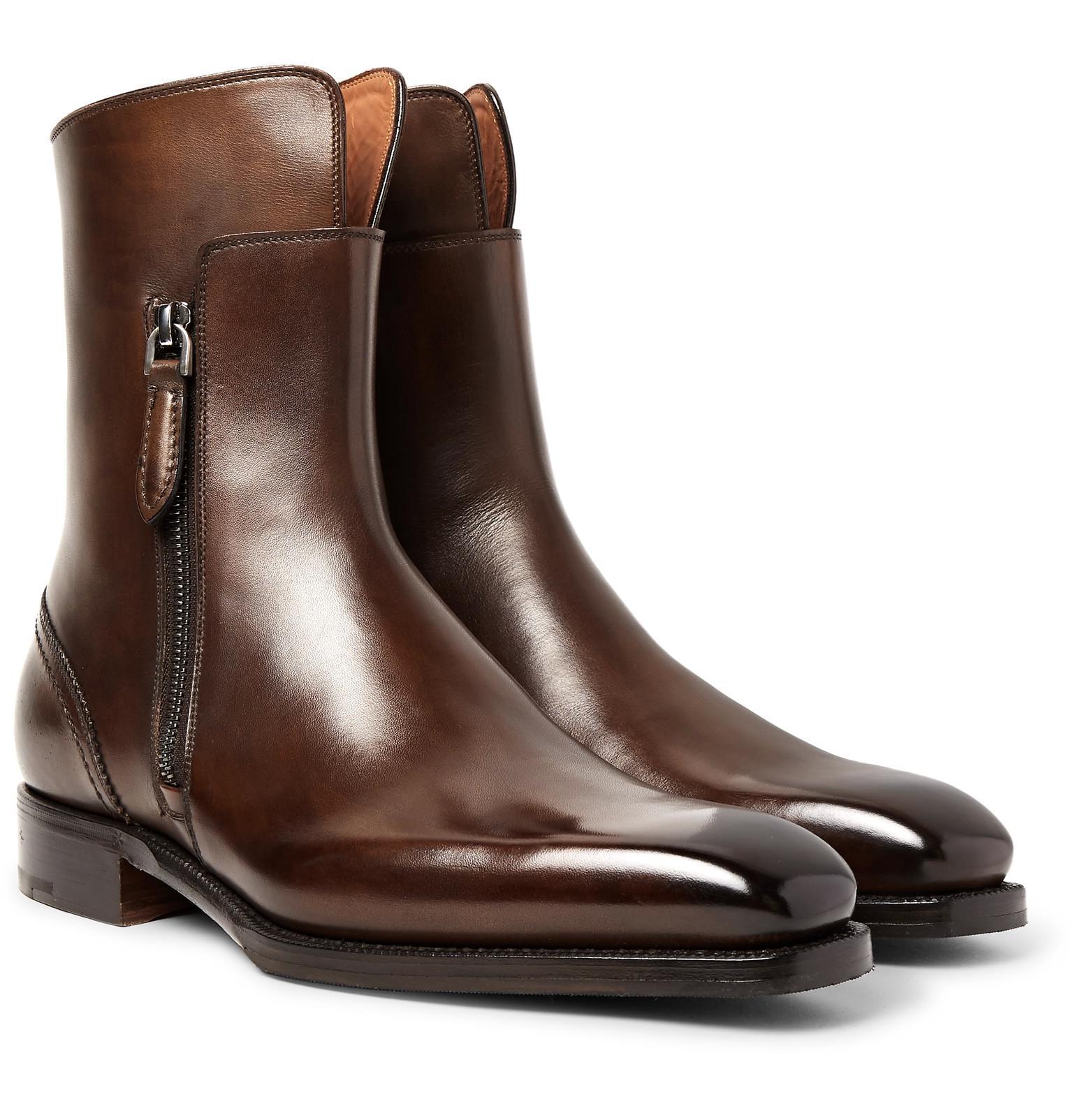 Ermenegildo Zegna Polished-leather
