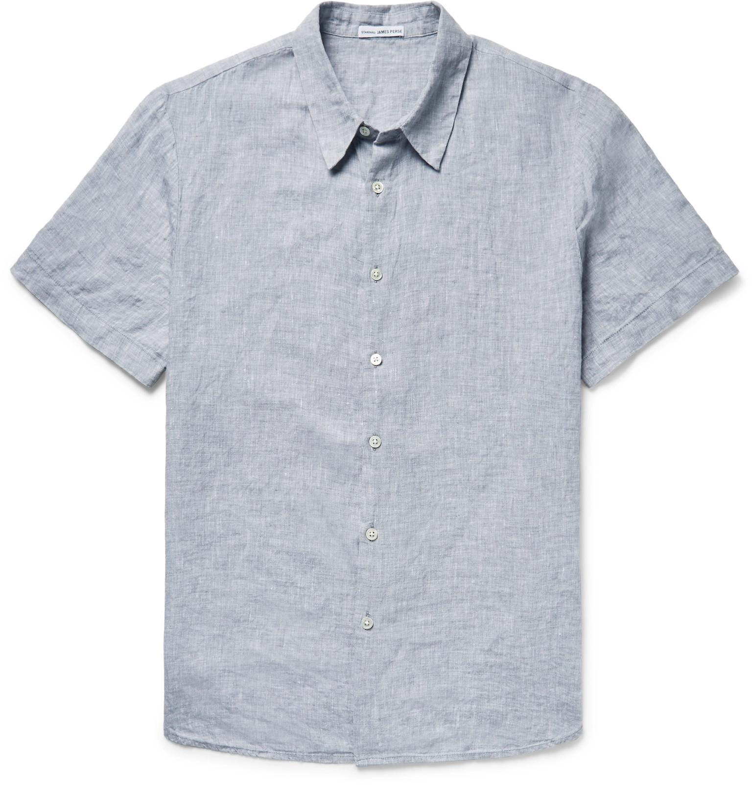 Cheap Marketable Slub Linen Shirt James Perse Buy Cheap Cheap BxXrQs