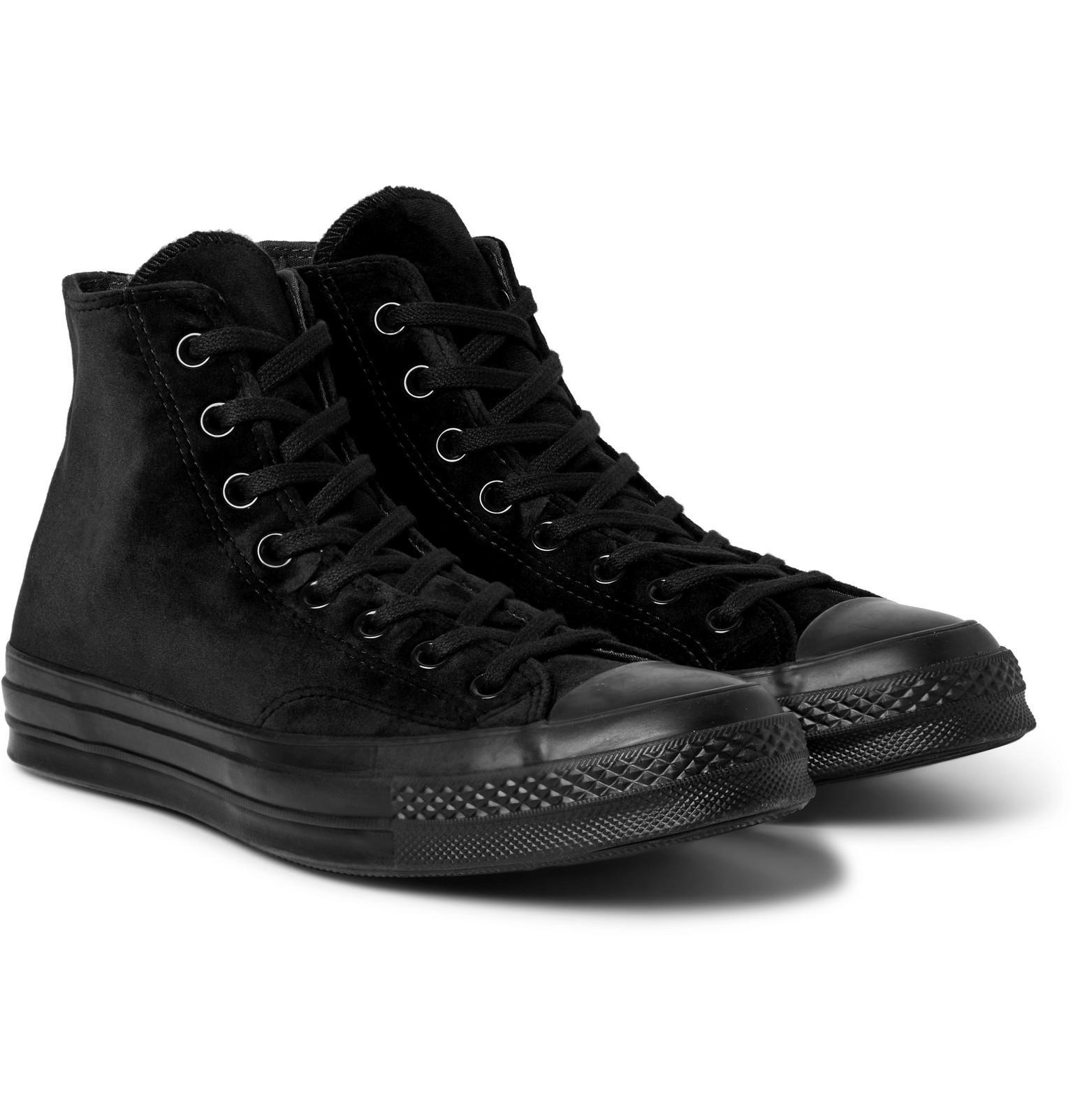 Converse Black Velvet Chuck 70 Hi