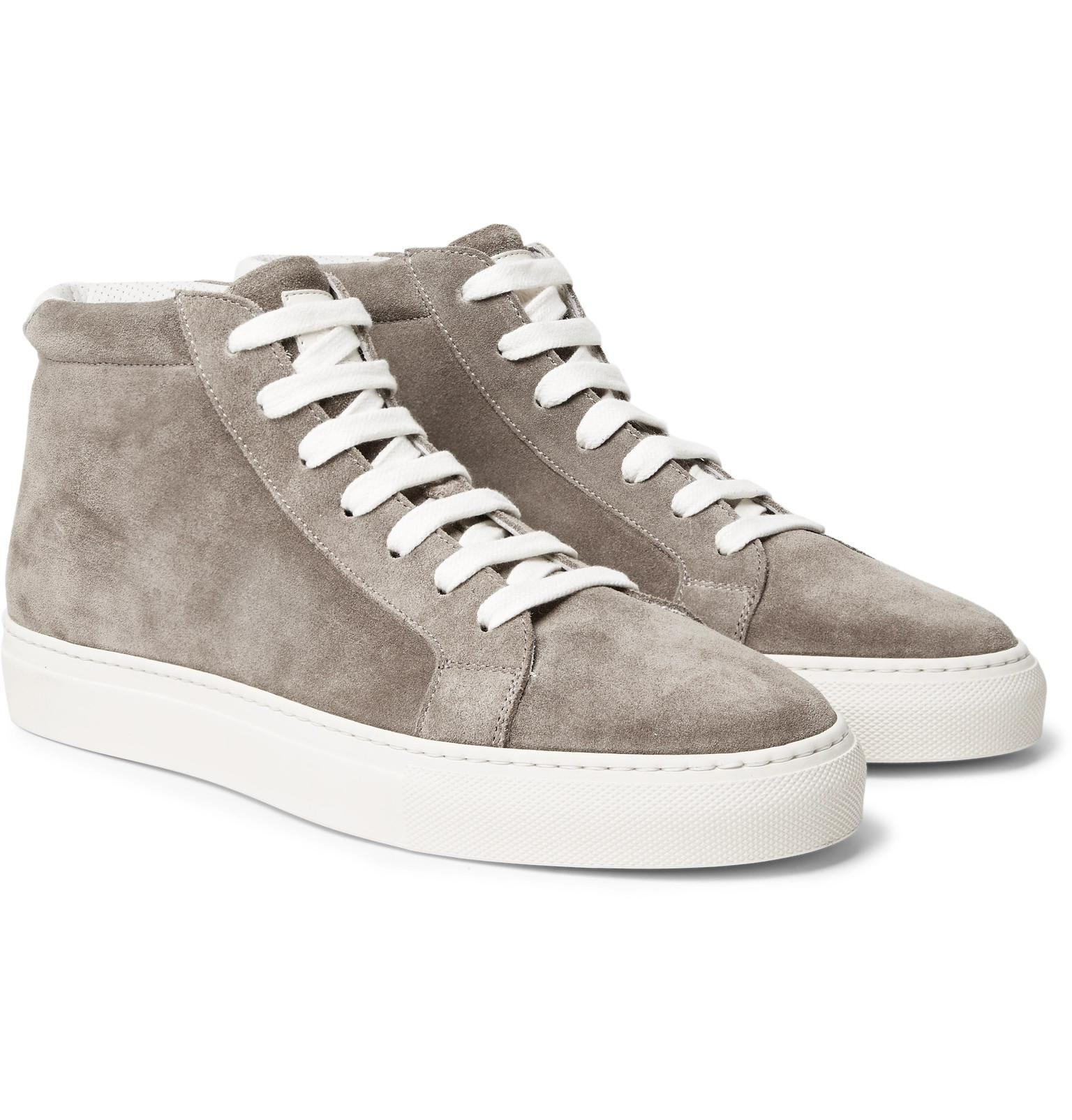 Nubuck High-top Sneakers Brunello Cucinelli rlES9S7JZ