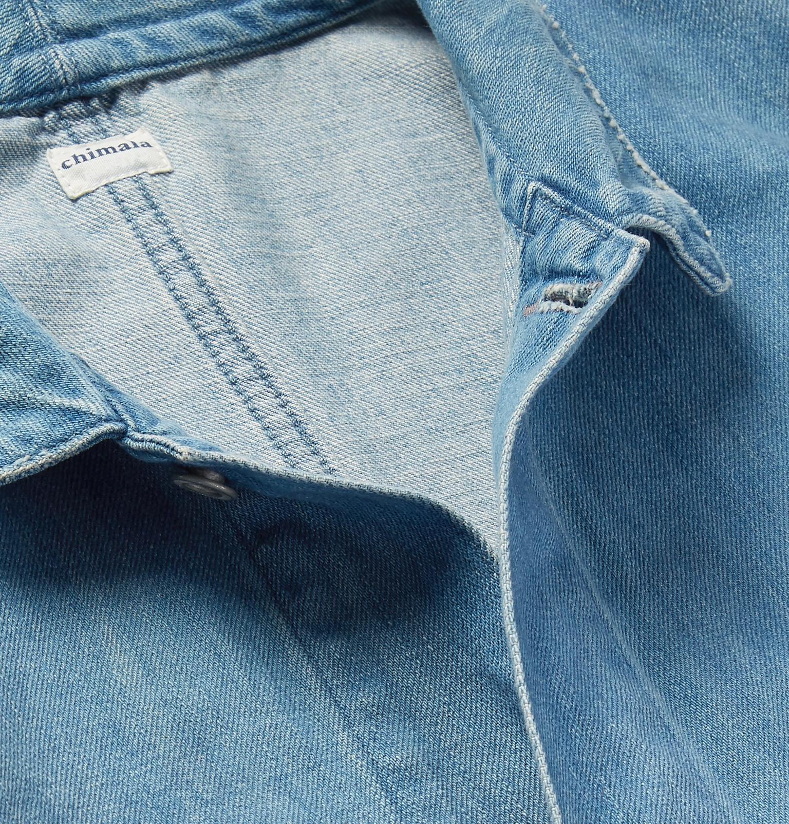 Chimala Distressed Denim Jacket in Blue for Men