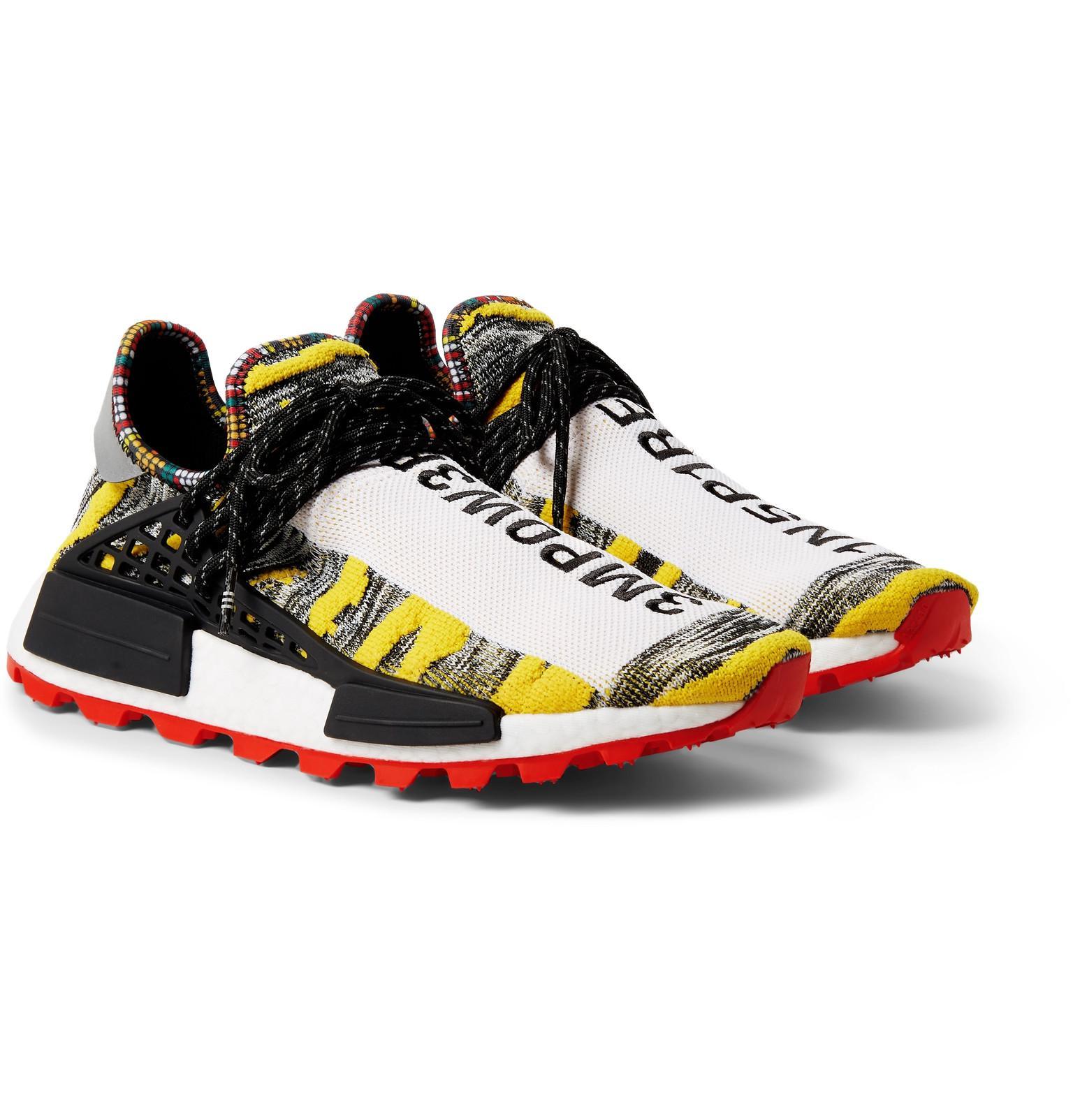 check out 69980 3d4ea adidas Originals + Pharrell Williams Solarhu Nmd Primeknit Sneakers ...