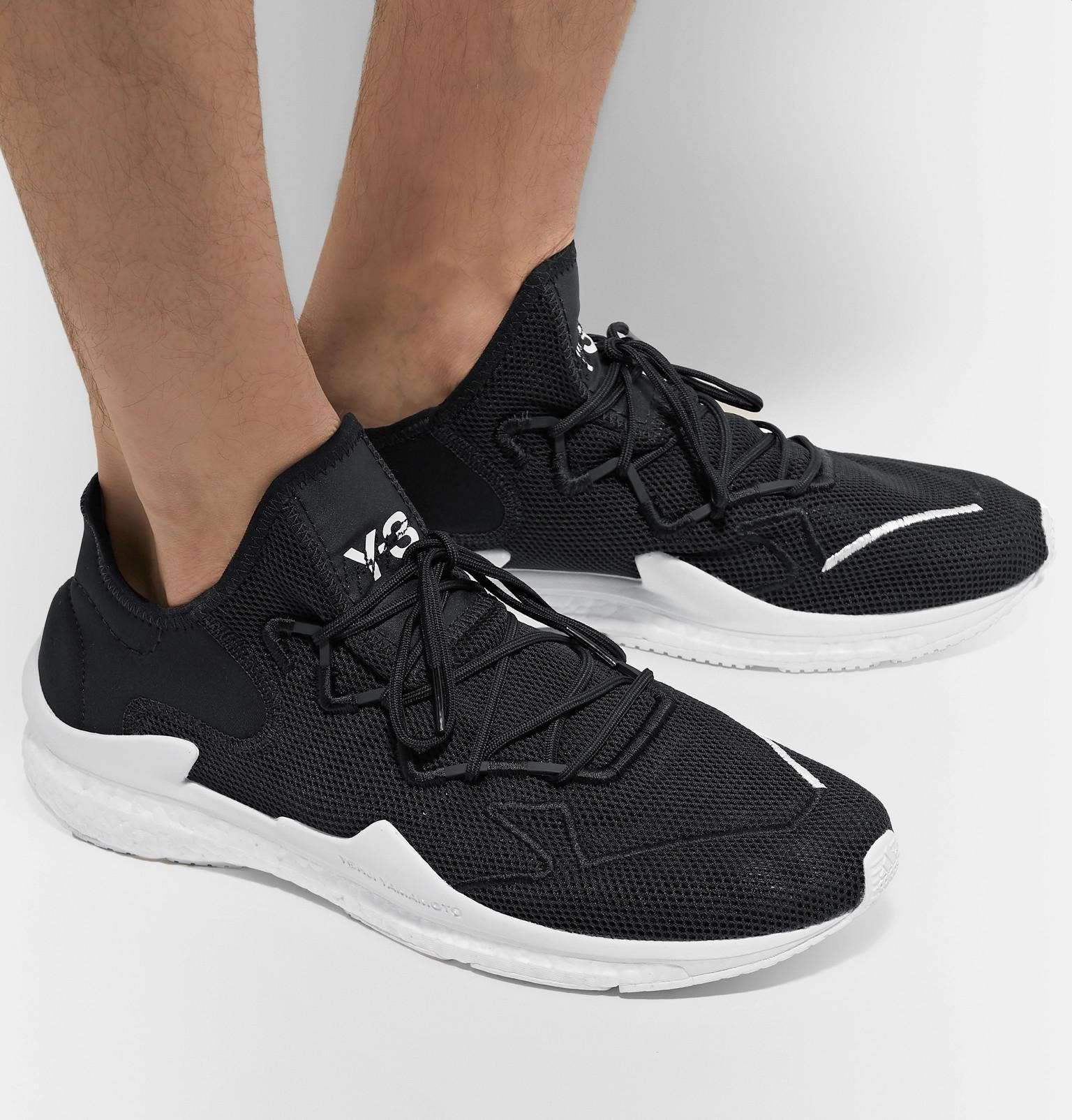 01b3b6040d922 Y-3 - Black Adizero Runner Neoprene-trimmed Mesh Sneakers for Men - Lyst.  View fullscreen
