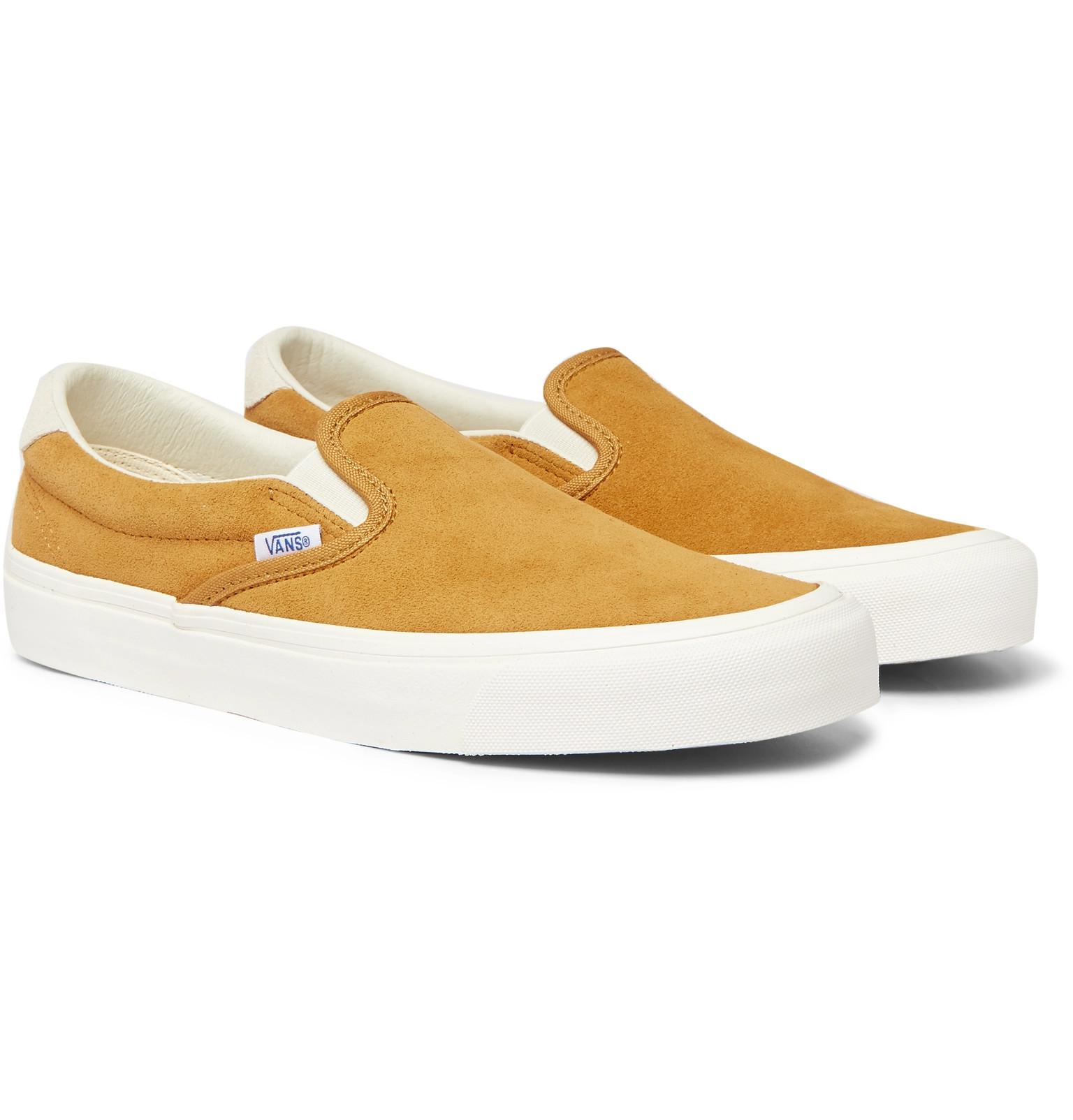 4bcdfd92eed Vans Og 59 Lx Suede Slip-on Sneakers in Yellow for Men - Lyst
