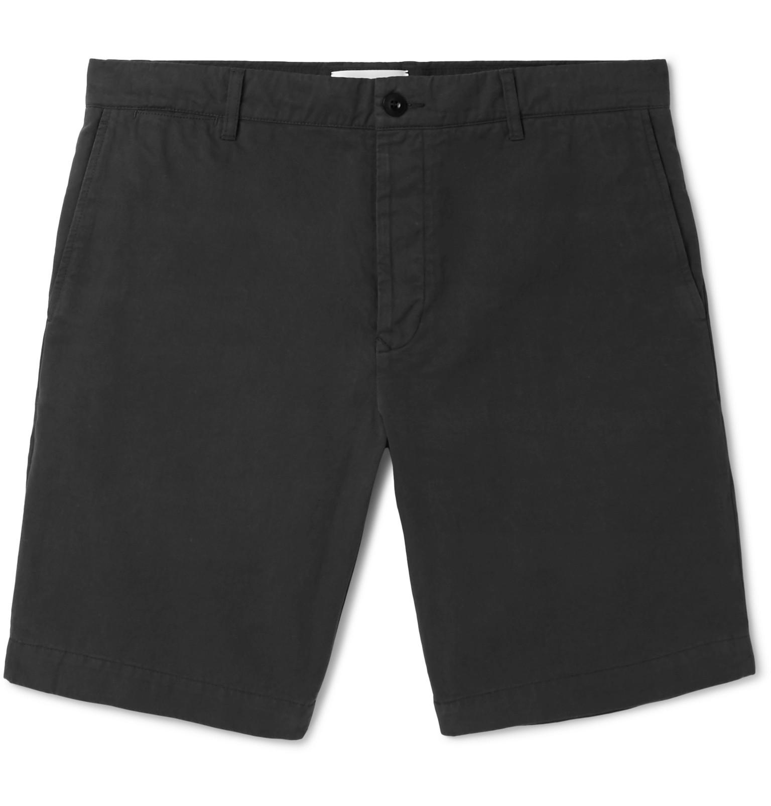 Mr P. Garment-dyed Cotton-twill Bermuda Shorts - Black fJ8VhNlnv