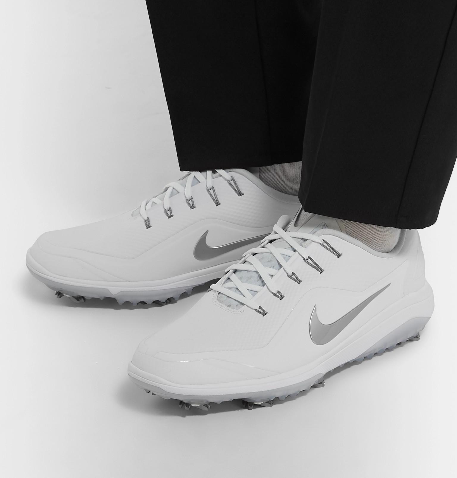 056339e6cab Nike - White React Vapor 2 Coated-mesh Golf Shoes for Men - Lyst. View  fullscreen