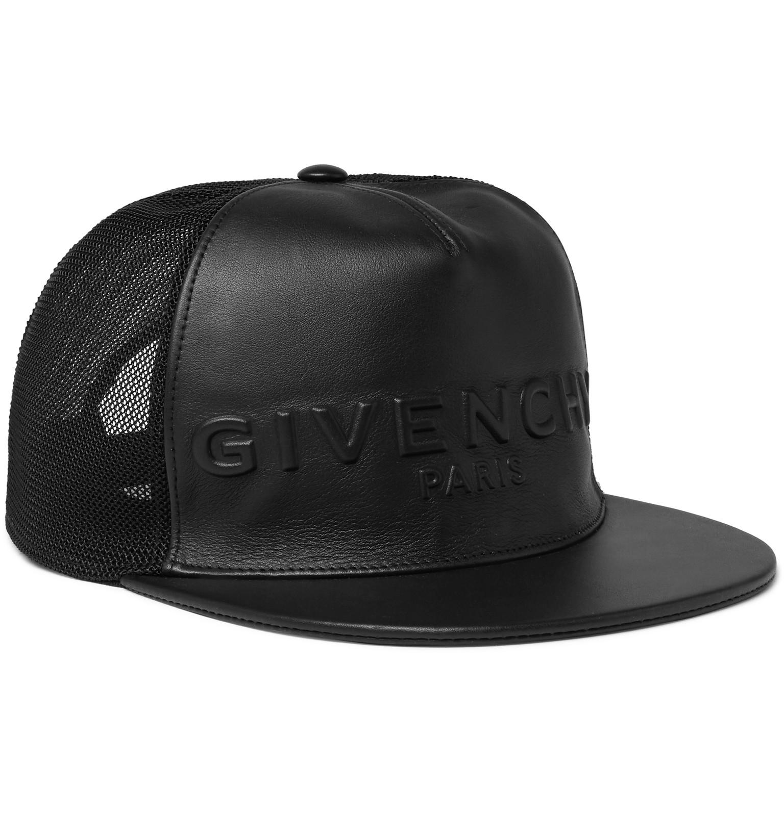 7af84c501c4 Givenchy Leather And Mesh Baseball Cap in Black for Men - Lyst