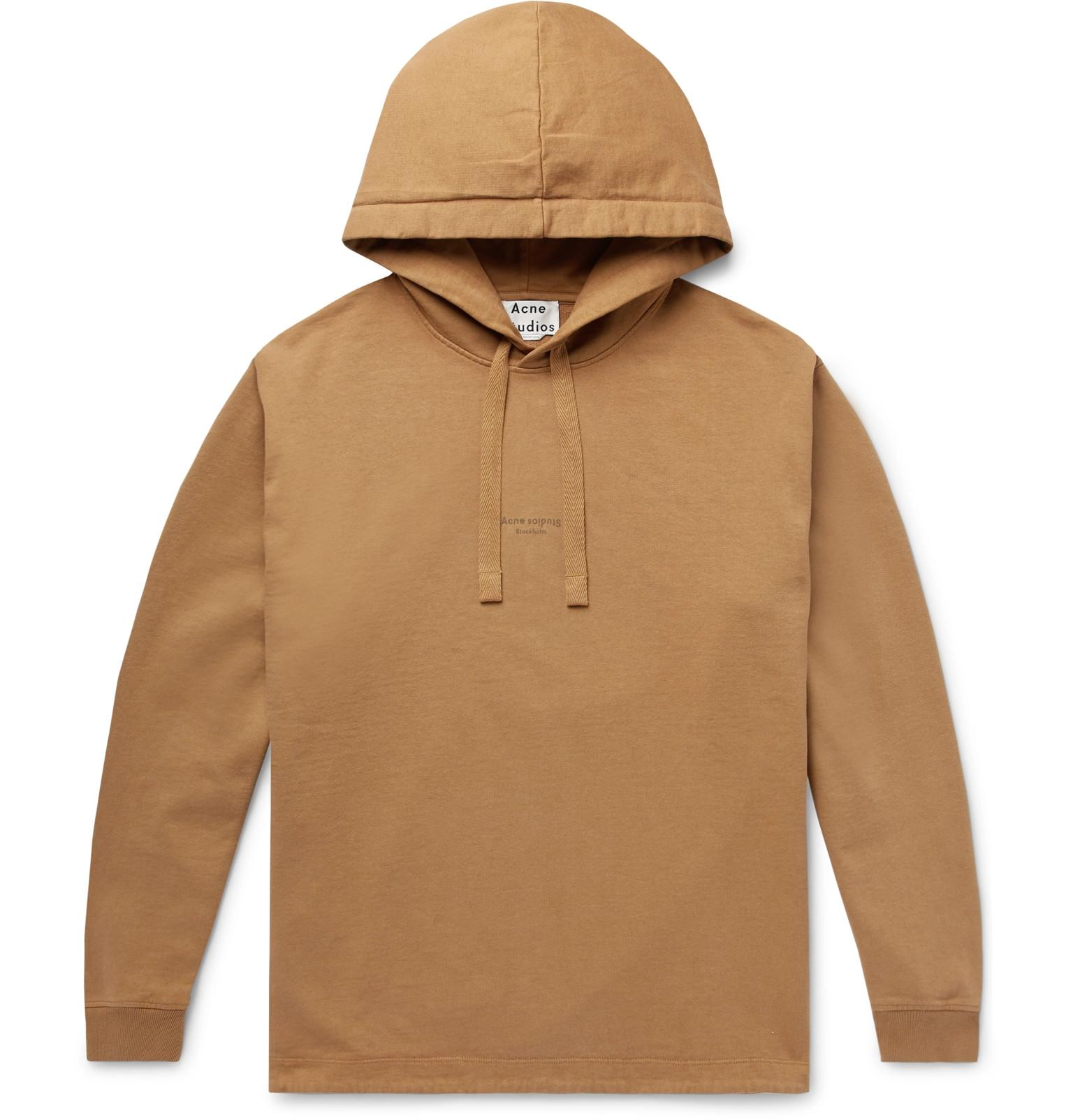 ed8b30de46 Acne Studios. Men's Brown Fagen Logo-print Loopback Cotton-jersey Hoodie