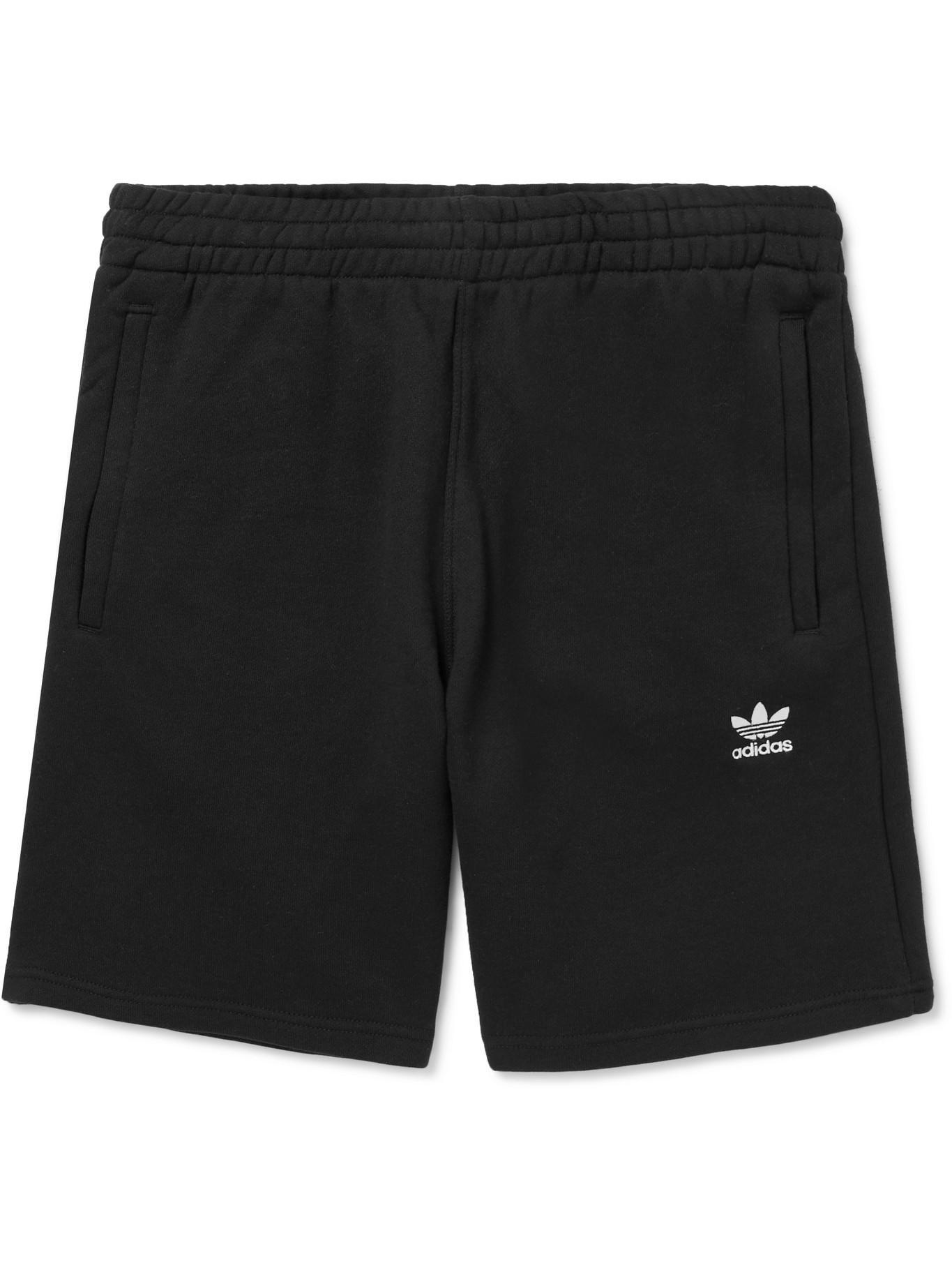 adidas Originals Essential Logo-embroidered Cotton-jersey Shorts ...