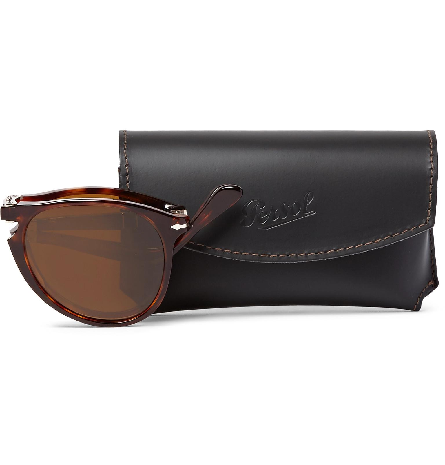 33b54dea56 Persol 714 Foldable D-frame Tortoiseshell Acetate Sunglasses in ...