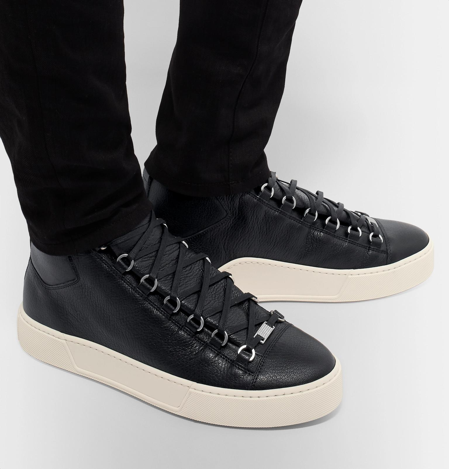Balenciaga Arena Full-grain Leather High-top Sneakers in