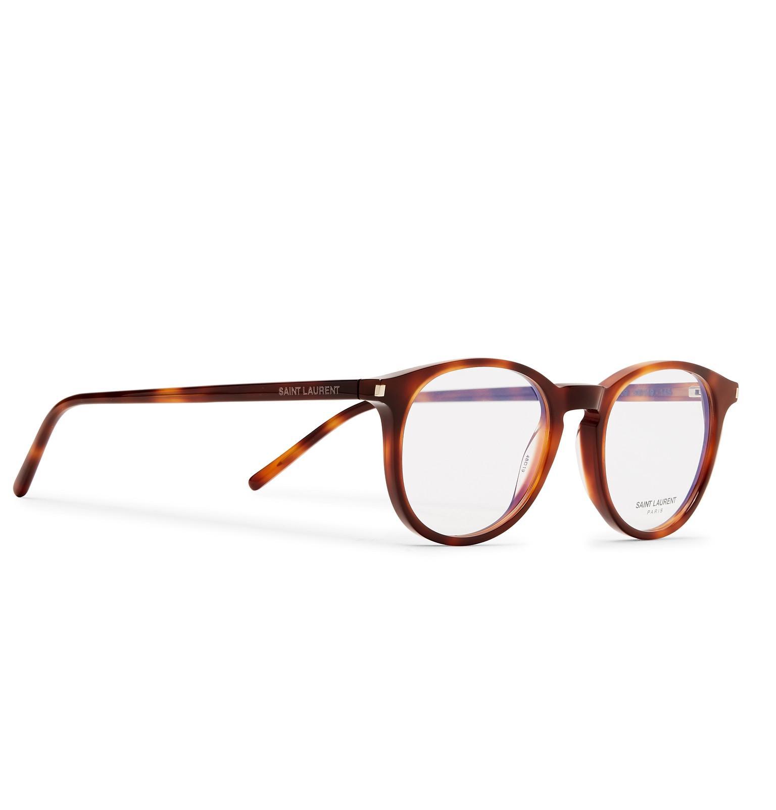 d91797b0dae Saint Laurent - Brown Round-frame Tortoiseshell Acetate Optical Glasses for  Men - Lyst. View fullscreen
