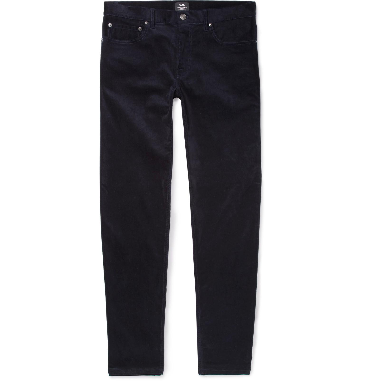 Slim-fit Stretch-cotton Corduroy Trousers Club Monaco TARpSkLTLt