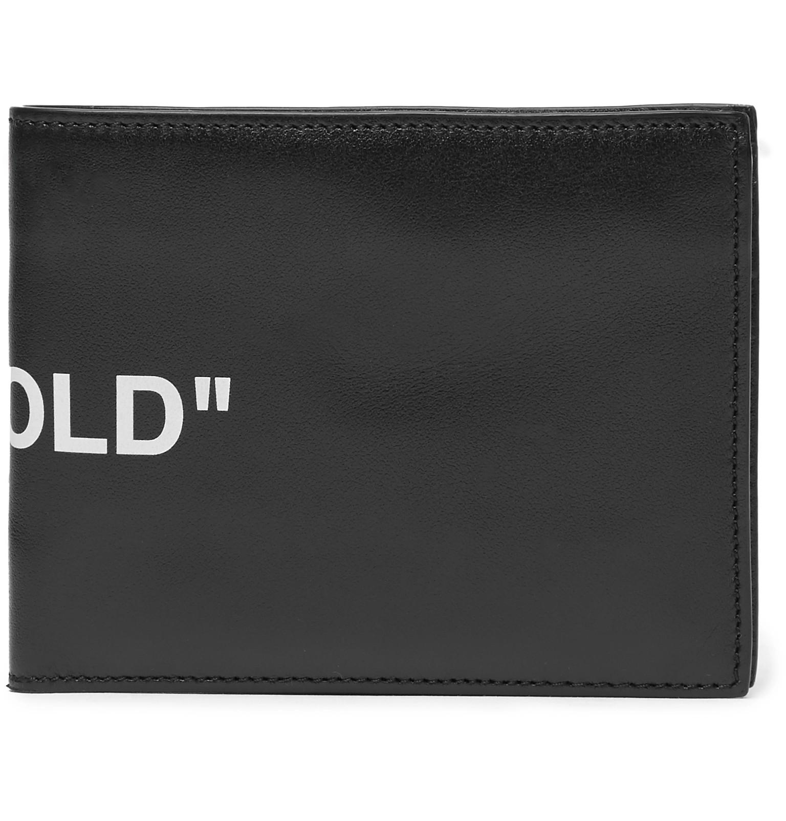 d3374d05b2a9 Lyst - Off-White c o Virgil Abloh Printed Leather Bifold Wallet in ...
