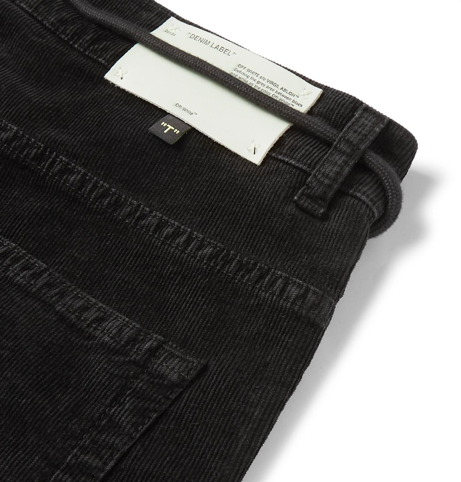 97a18131ef89 Off-White c o Virgil Abloh - Black Slim-fit Stretch Cotton-. View fullscreen