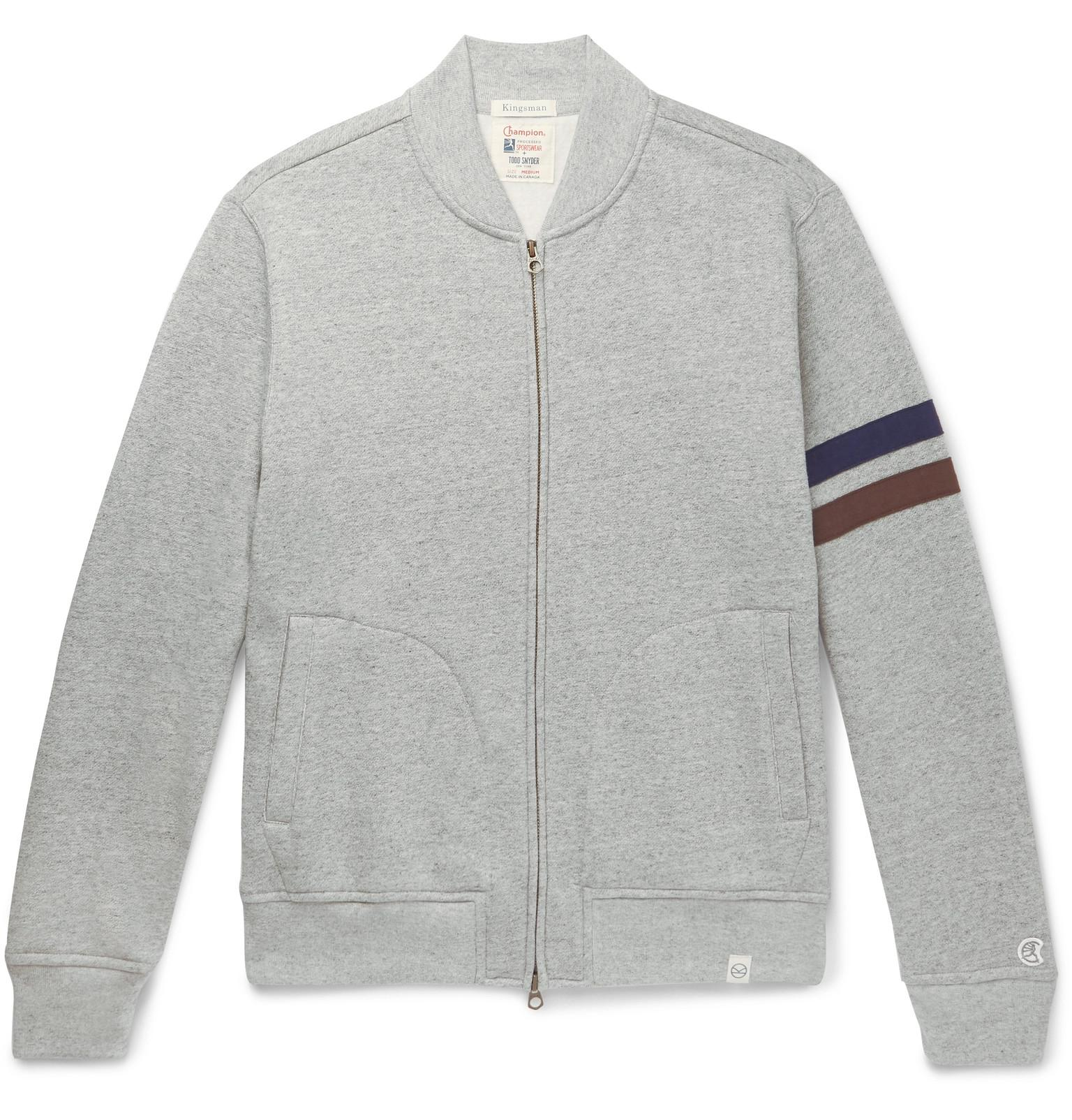 look good shoes sale new images of outlet store sale + Todd Snyder + Champion Harry's Fleece-back Cotton-blend Jersey Zip-up  Sweatshirt
