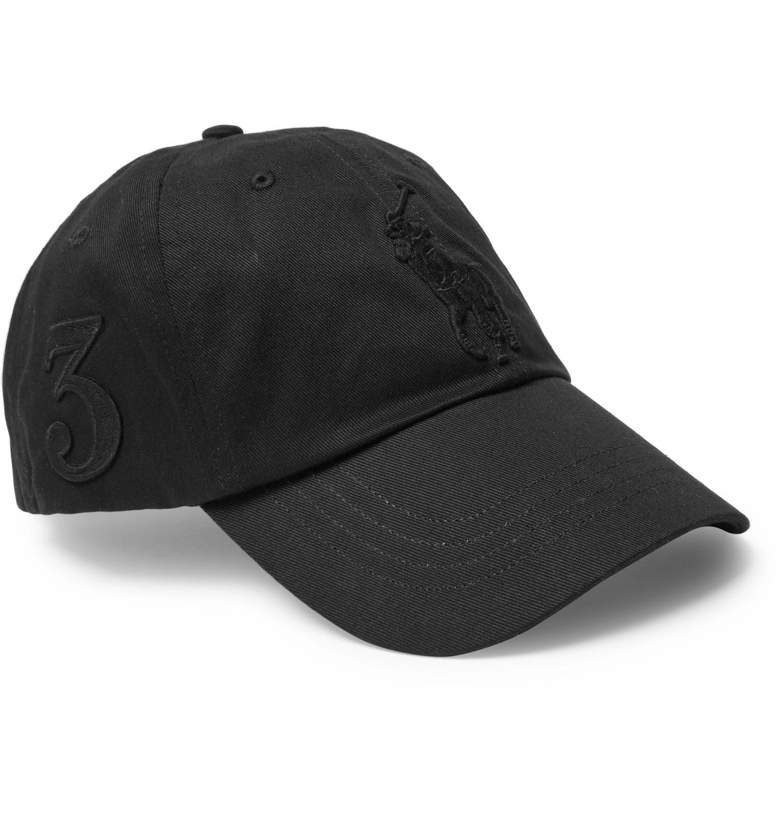 Lyst - Polo Ralph Lauren Cotton-twill Baseball Cap in Black for Men c921f21d746