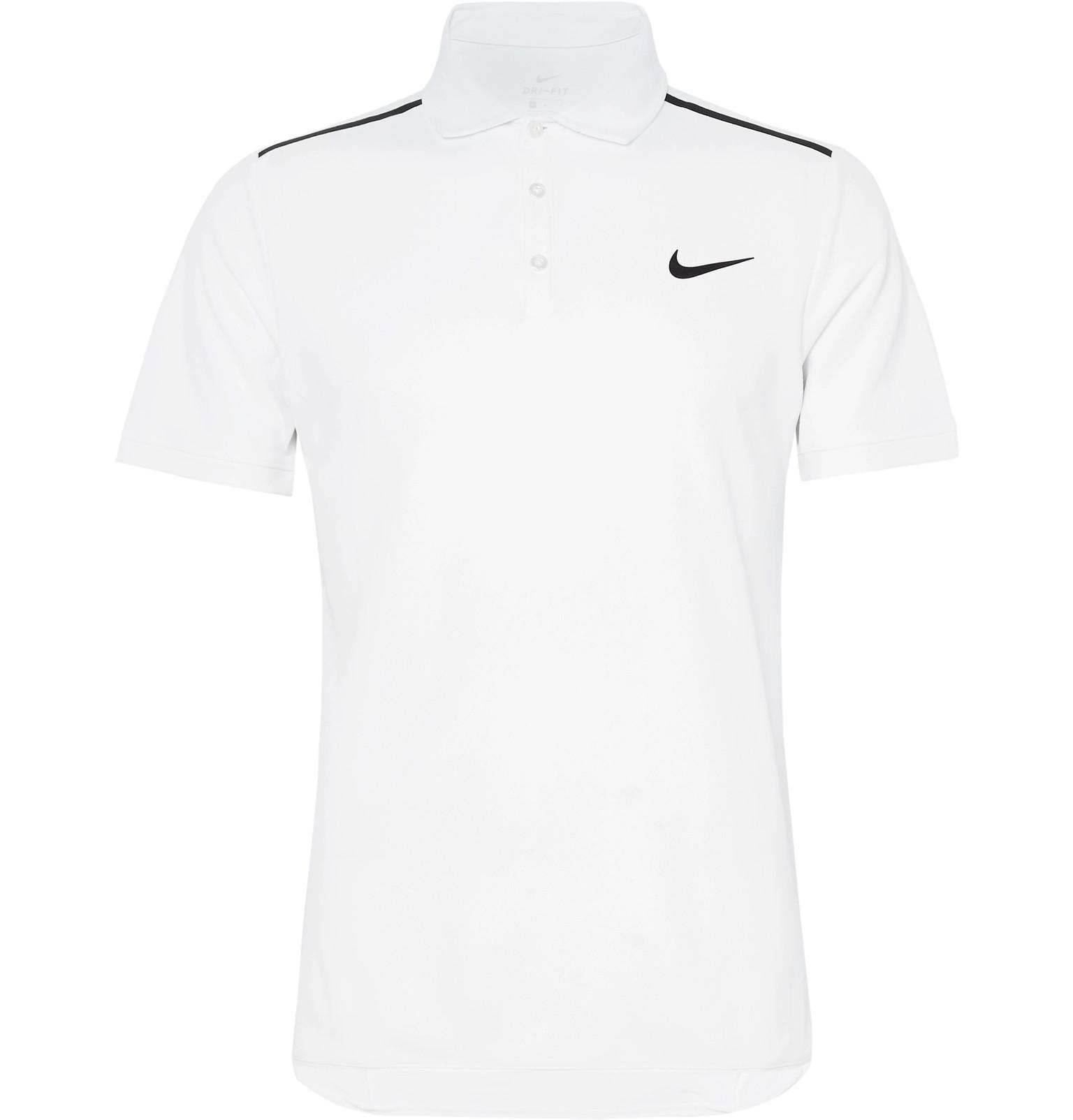 421088d5a06 Nike White Nikecourt Dry Advantage Dri-fit Piqué Tennis Polo Shirt for men
