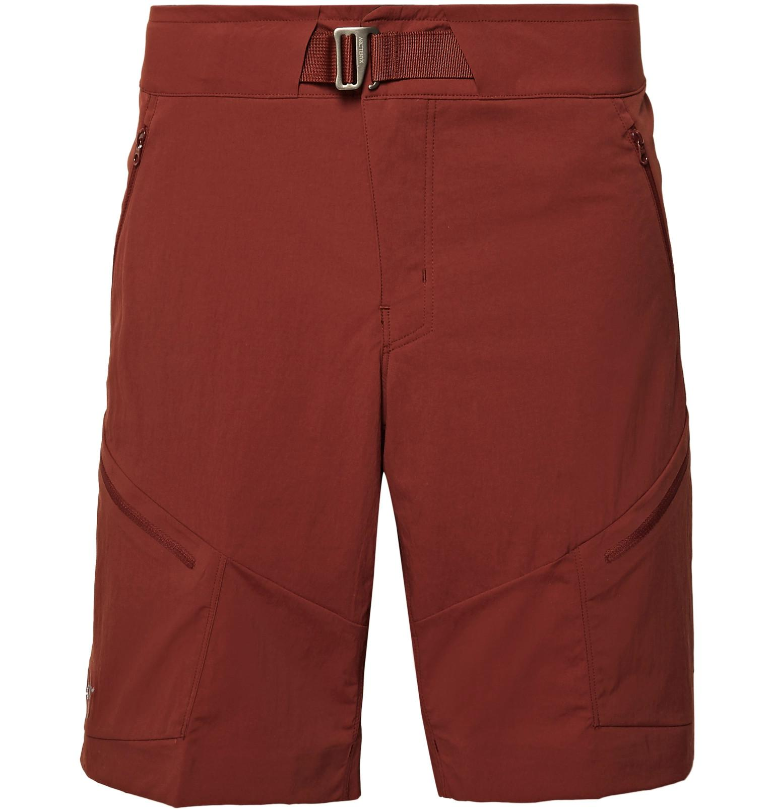 Arc'teryx Palisade Slim-fit Terratex Shorts - Red FNpNJZMsdP