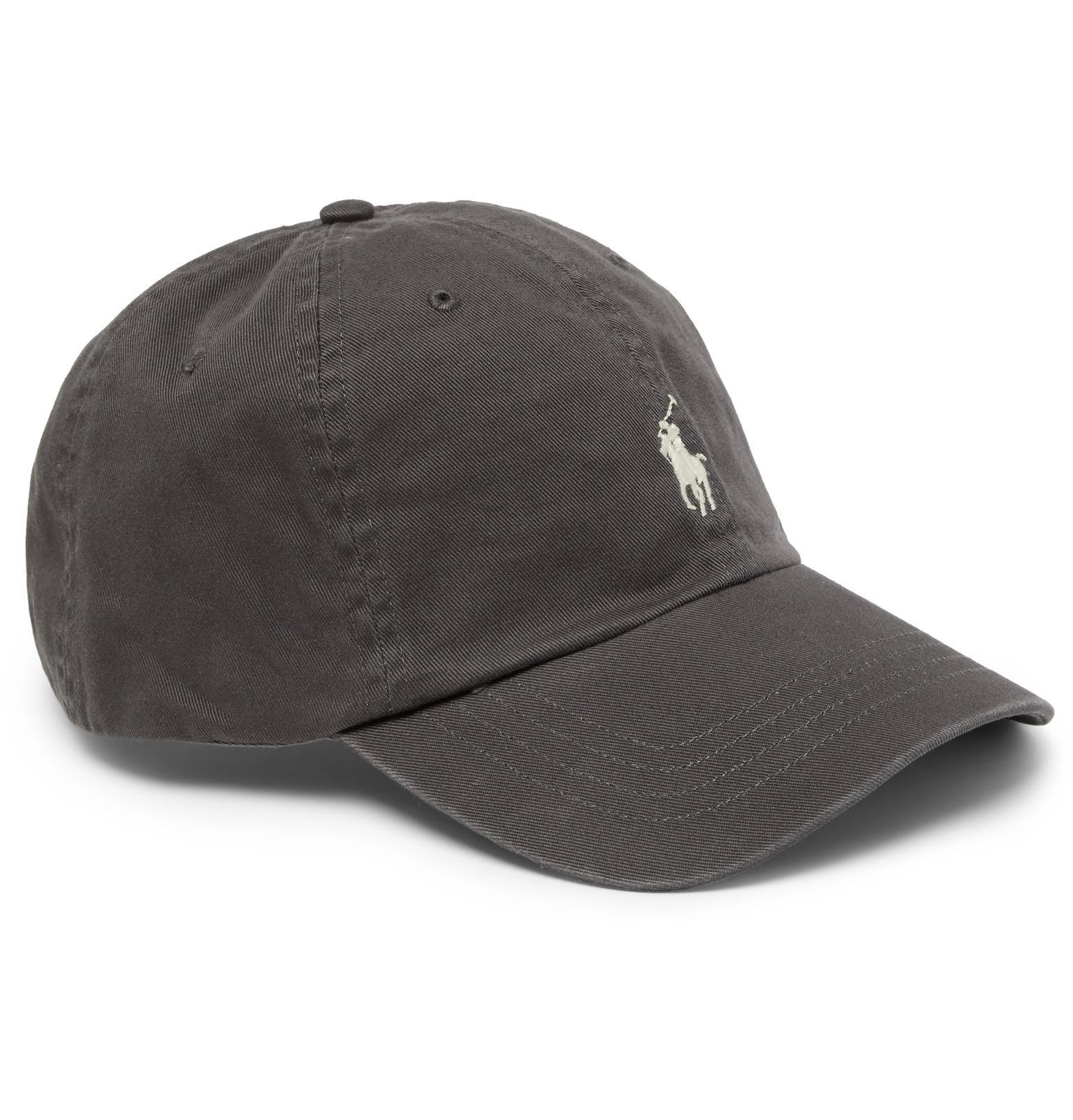a3f97f1acae05 Lyst - Polo Ralph Lauren Cotton-twill Baseball Cap in Gray for Men
