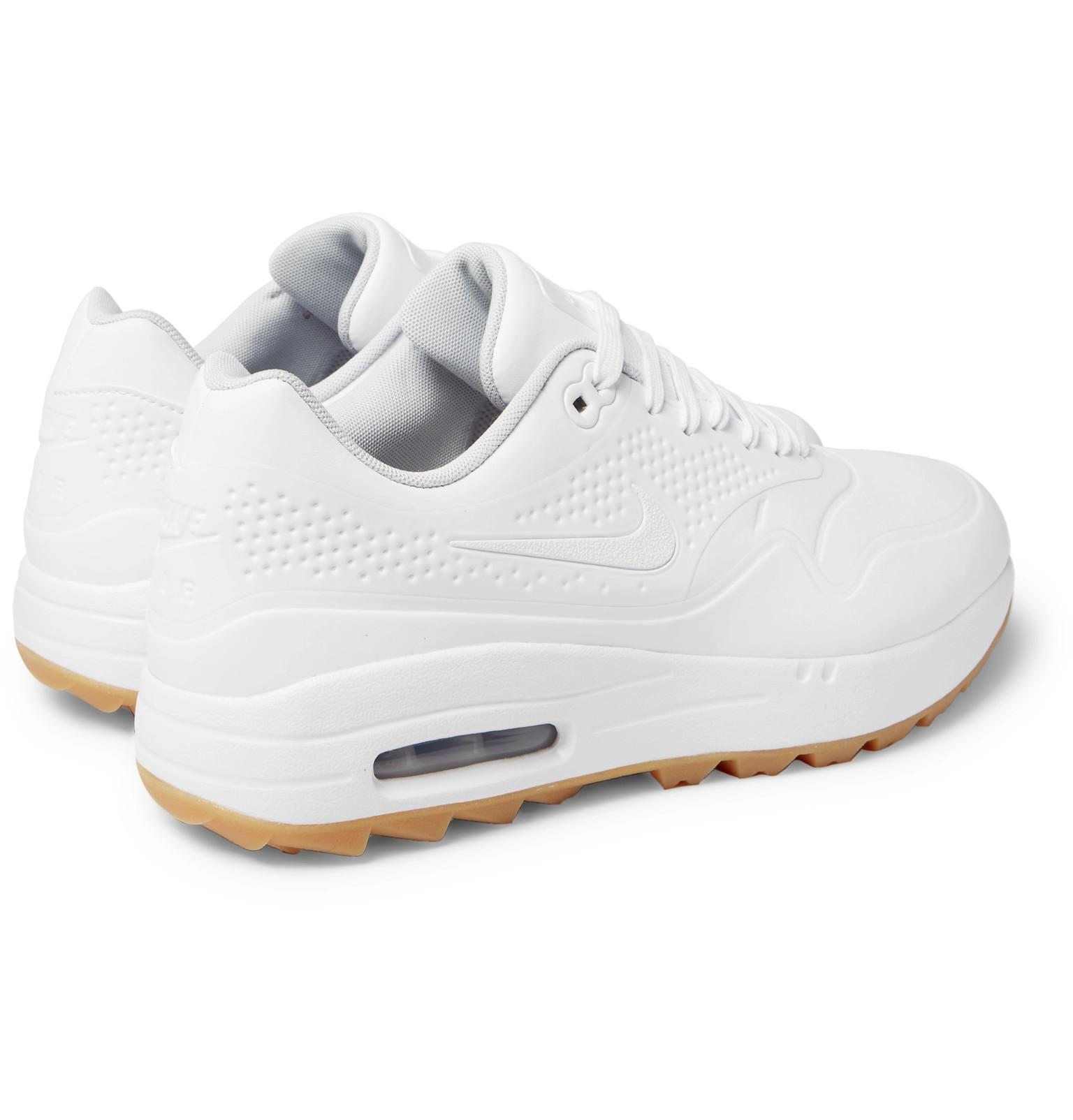 Nike Air Max 1g Coated Mesh Golf Shoes in White for Men - Lyst