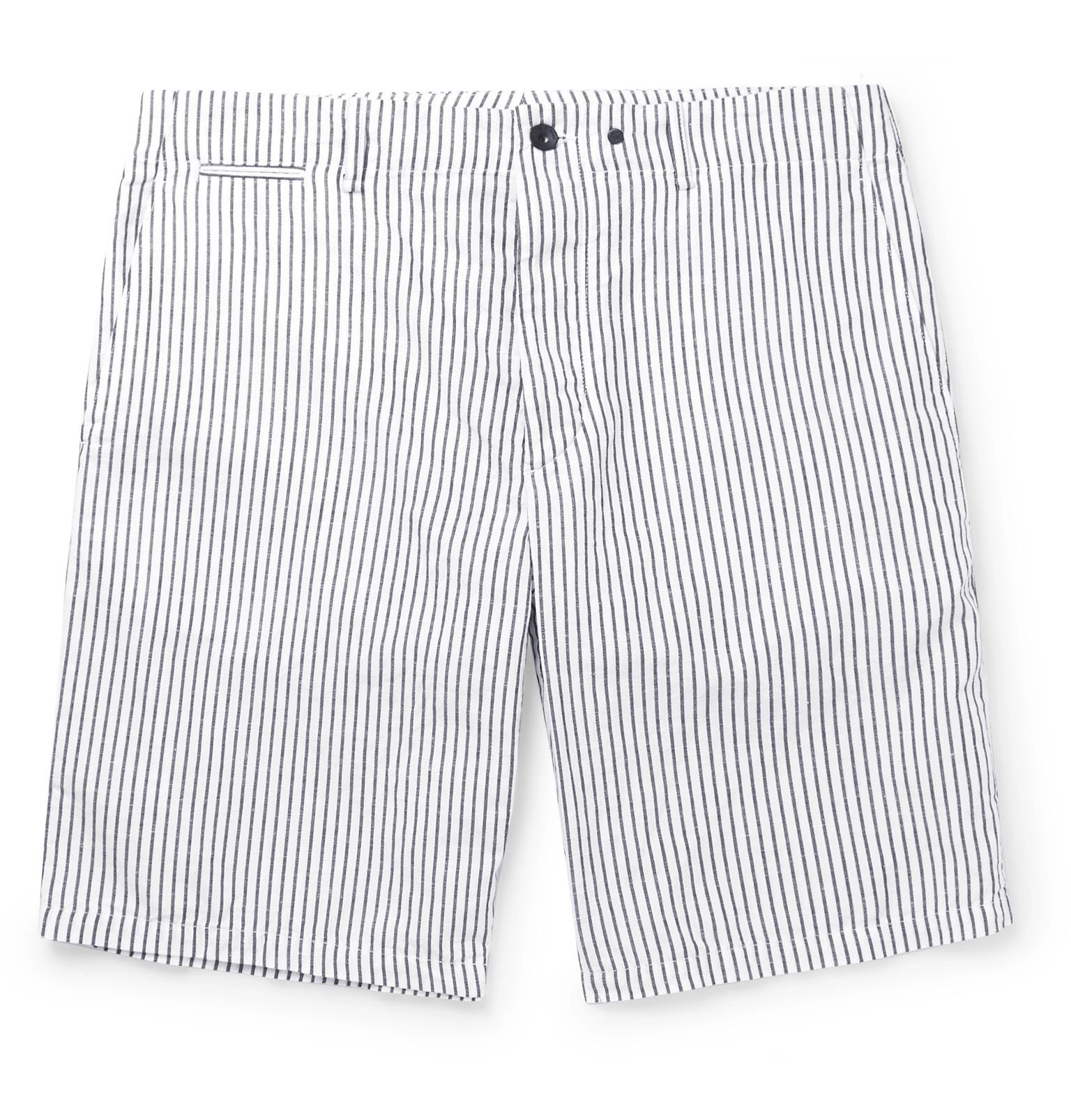Beach Short Ii Striped Cotton And Linen-blend Shorts Rag & Bone GdnzCIe