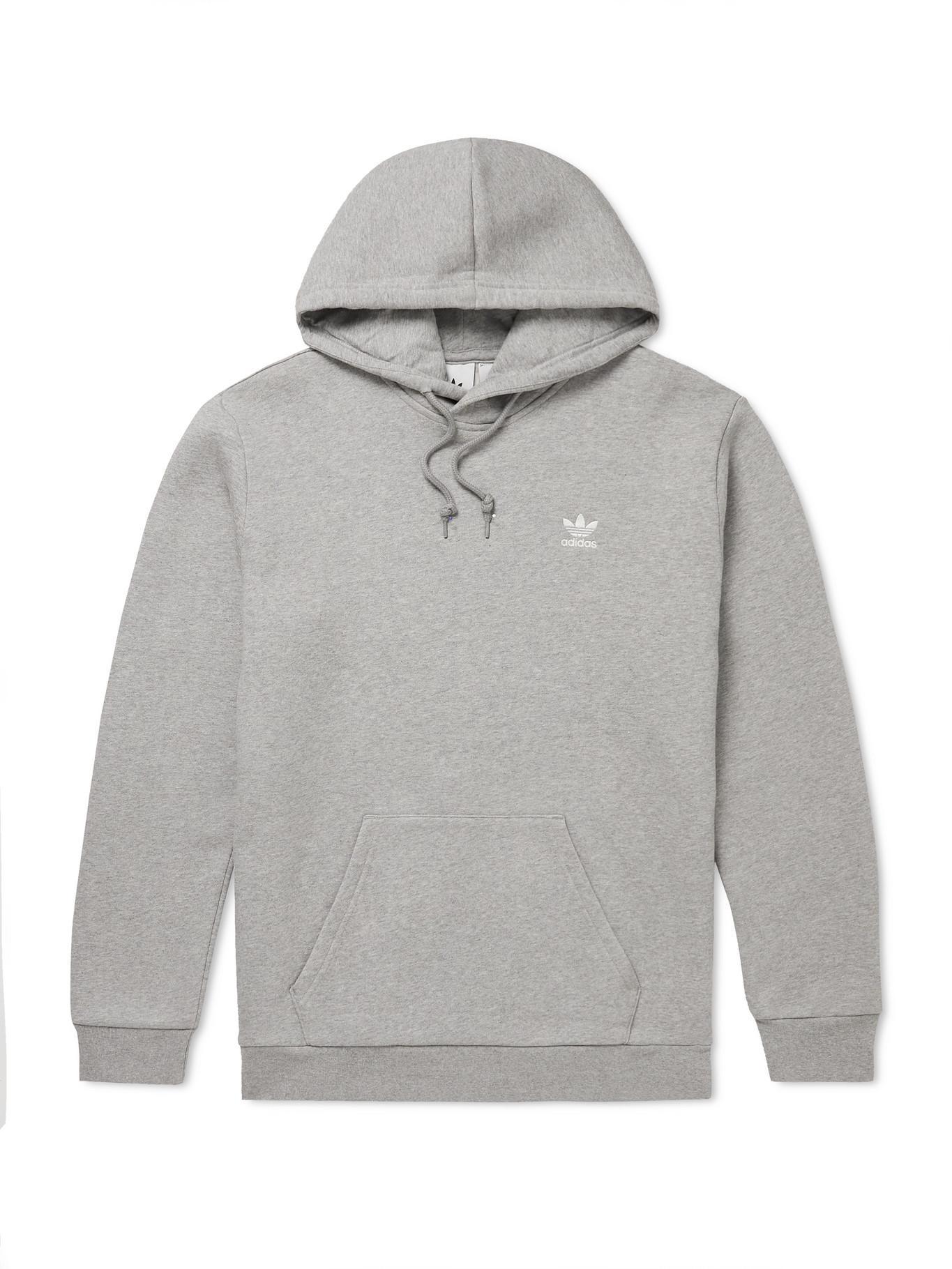 adidas Originals Logo-embroidered Cotton-blend Jersey Hoodie in ...