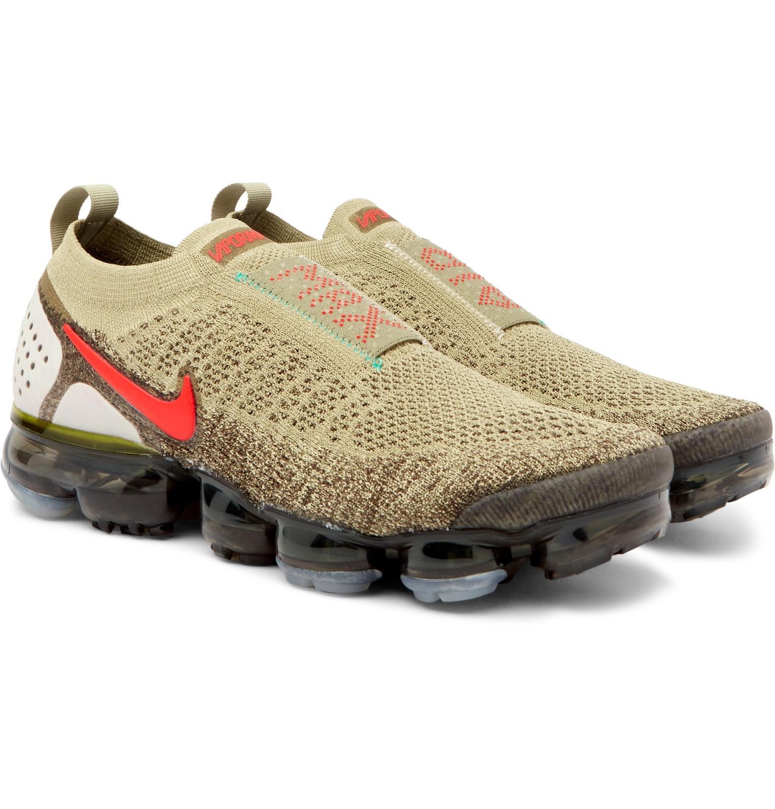 6wgqhv Moc Air Slip 2 Vapormax On Nike Flyknit Sneakers Green 4qOzc