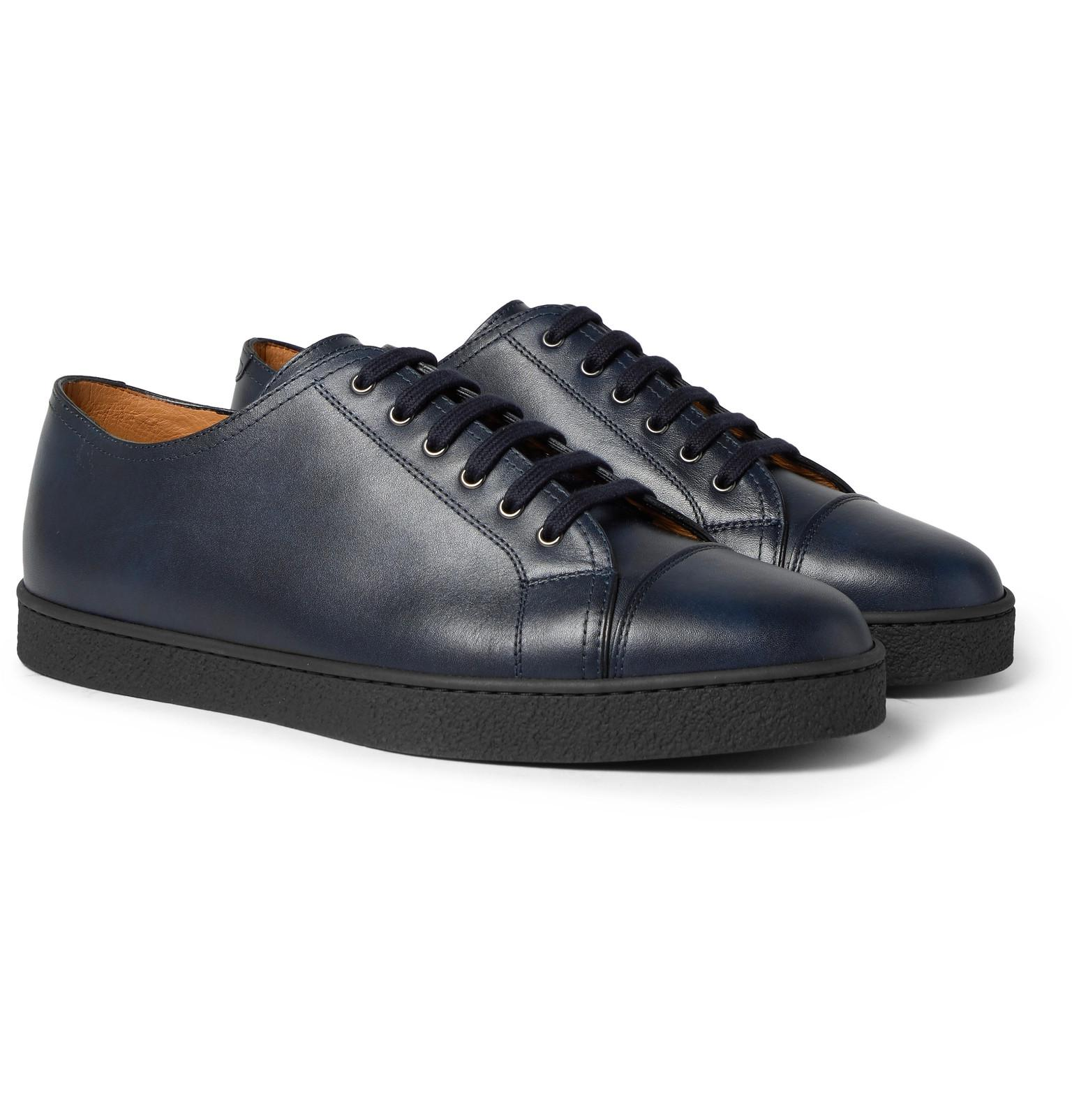 Levah Cap-toe Leather And Suede Sneakers John Lobb