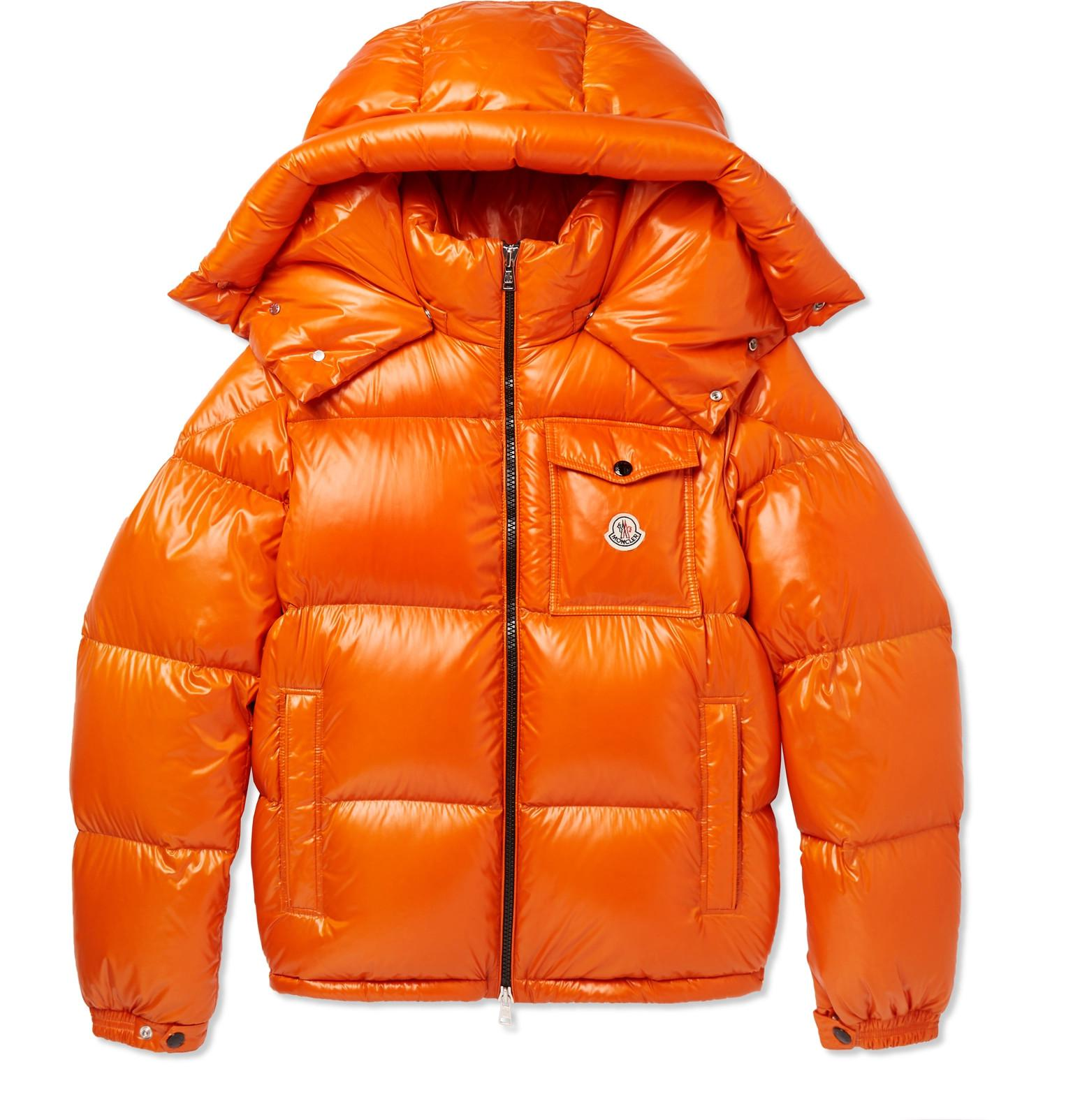 03260a447109 Moncler Montbeliard Nylon Laqué Down Jacket in Orange for Men - Lyst