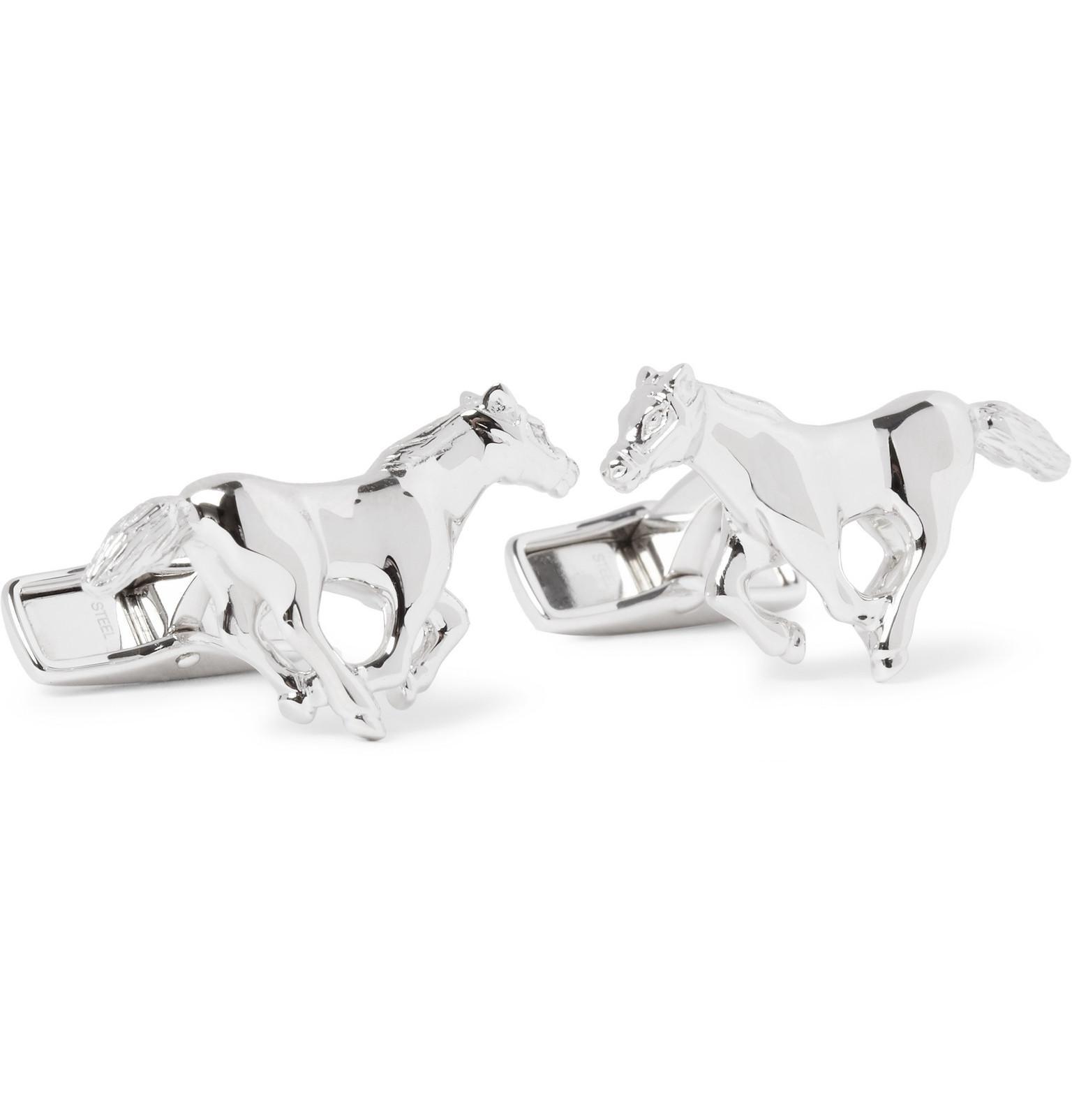 ZAUNICK Wild Horses Cufflinks Sterling Silver Handcrafted